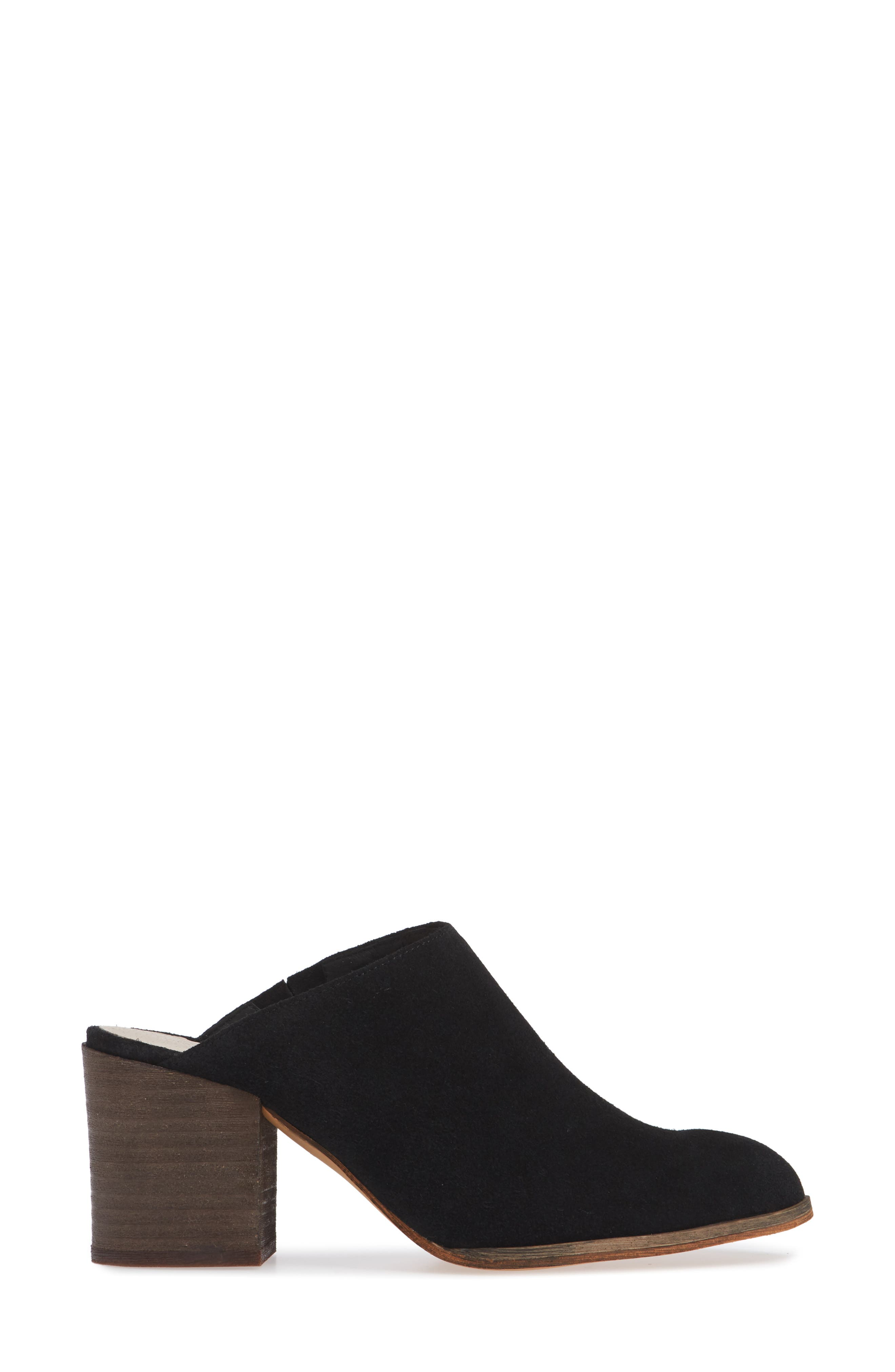 Miccah Mule,                             Alternate thumbnail 3, color,                             BLACK SUEDE