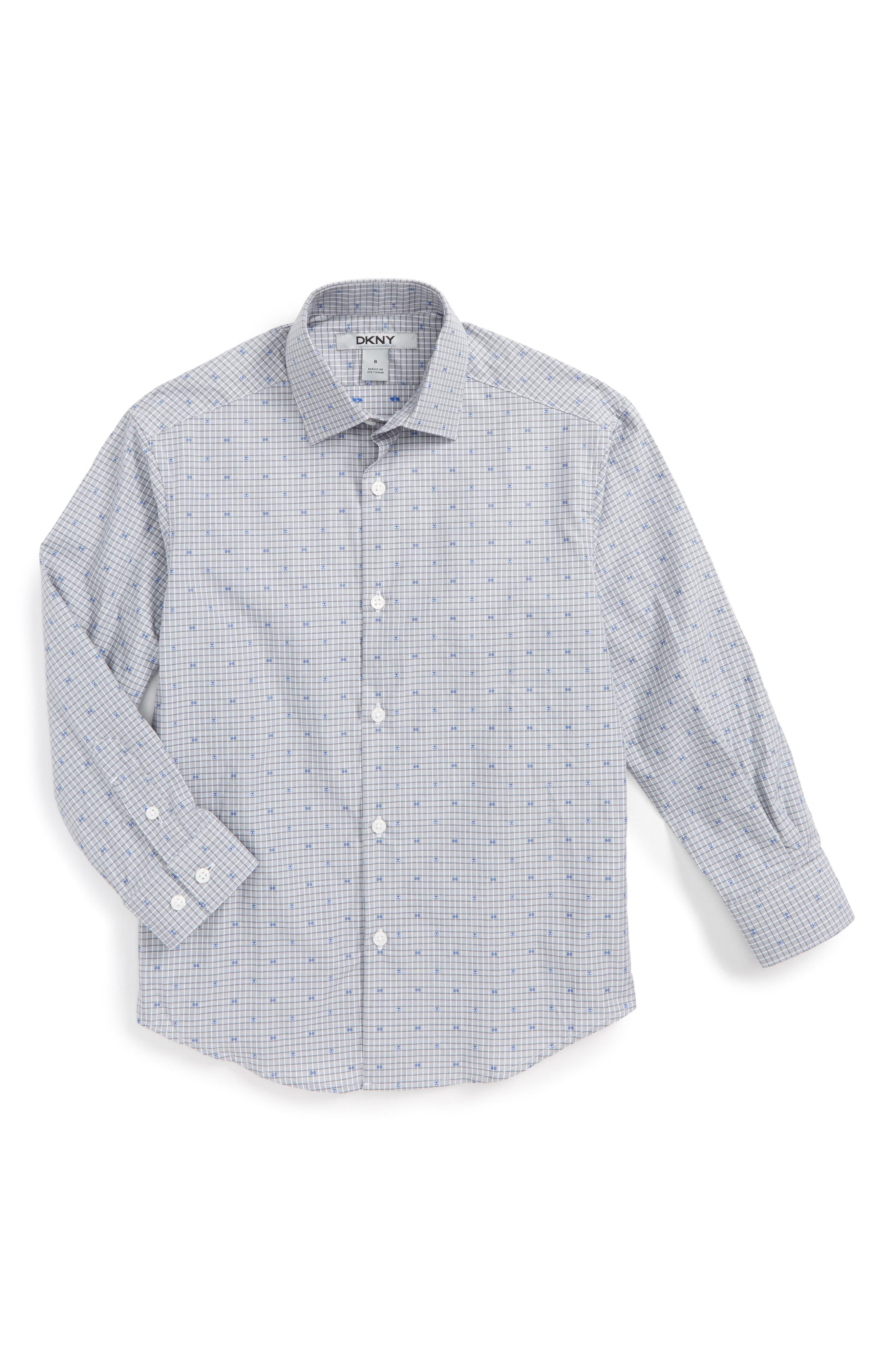 Check Dress Shirt,                         Main,                         color, 020