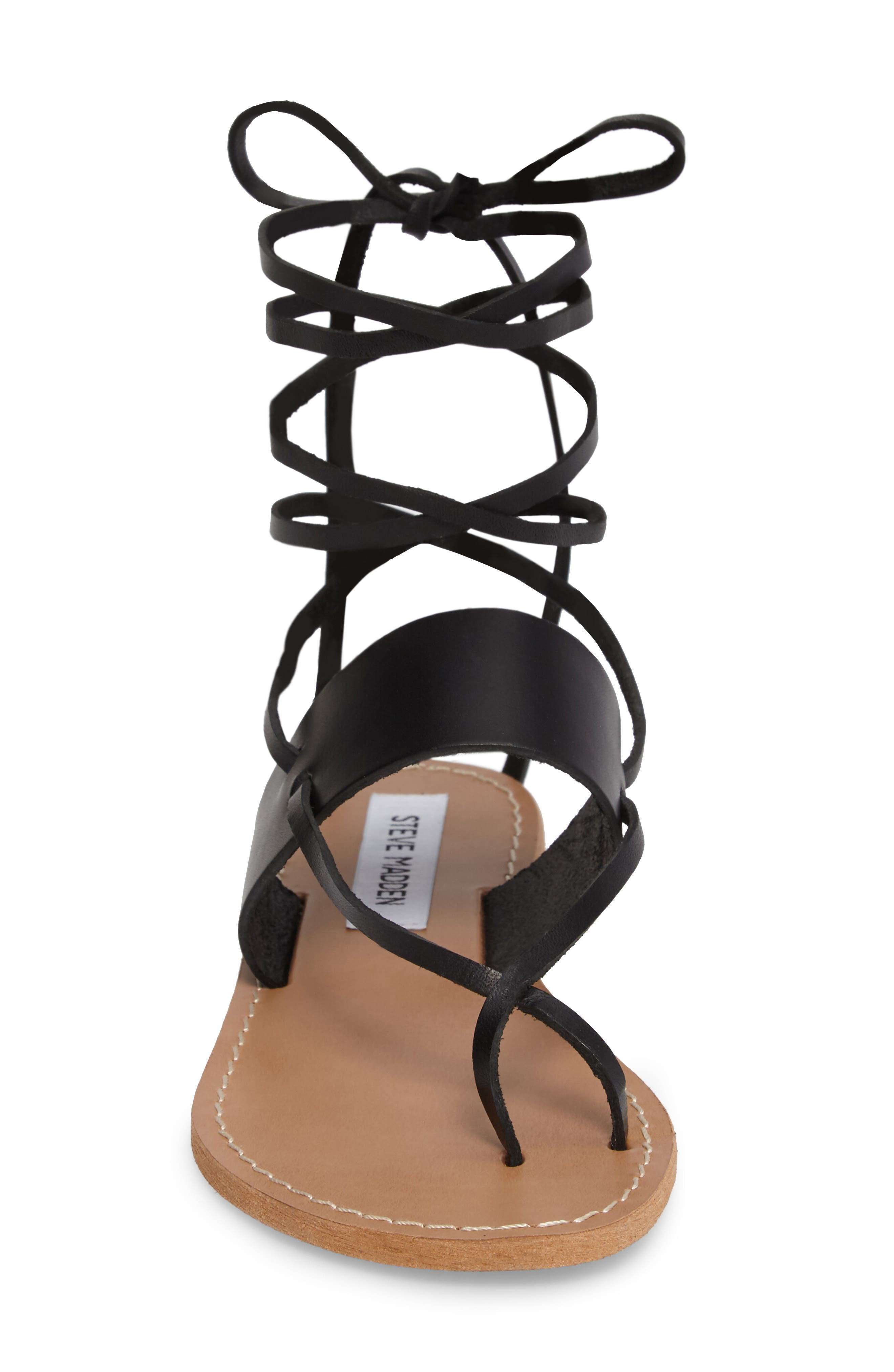 Bianca Lace-Up Sandal,                             Alternate thumbnail 4, color,                             001