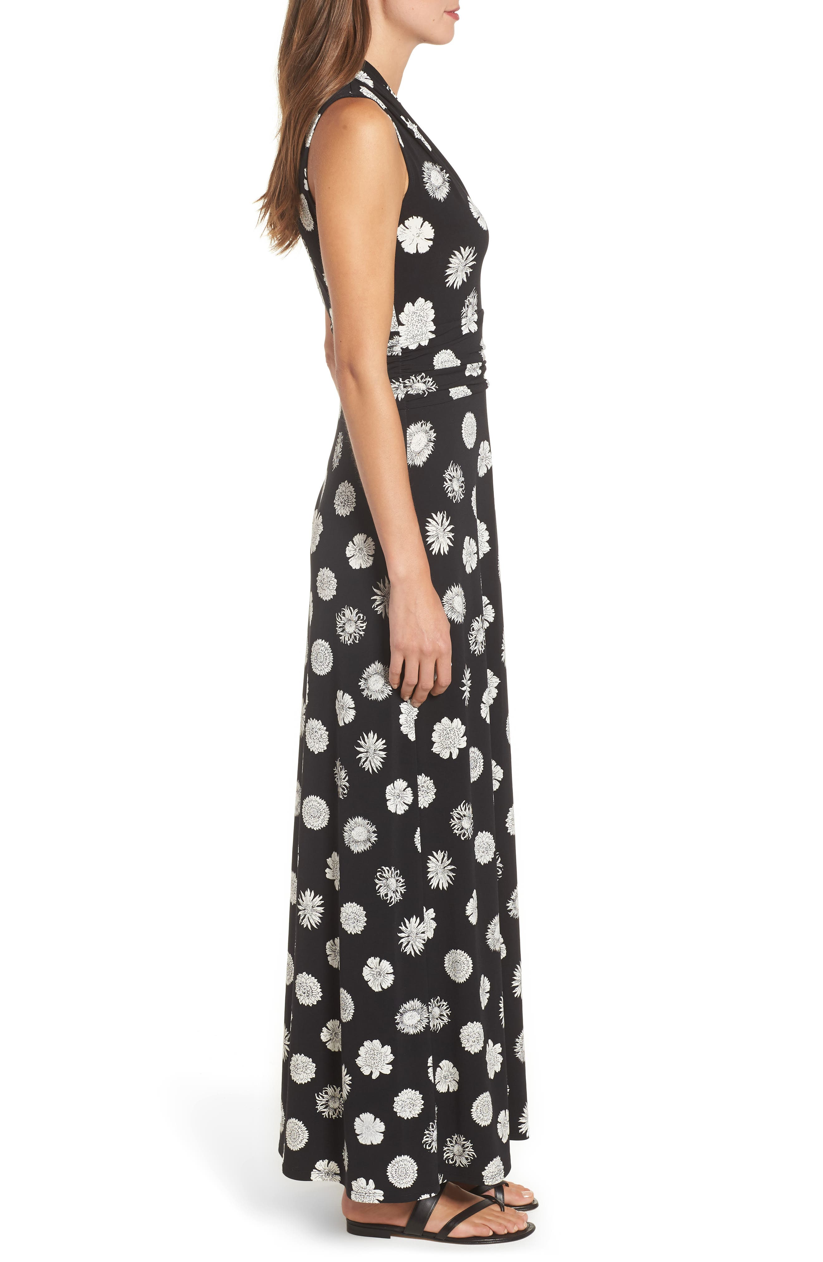 Botanical Tropics Halter Maxi Dress,                             Alternate thumbnail 3, color,                             001