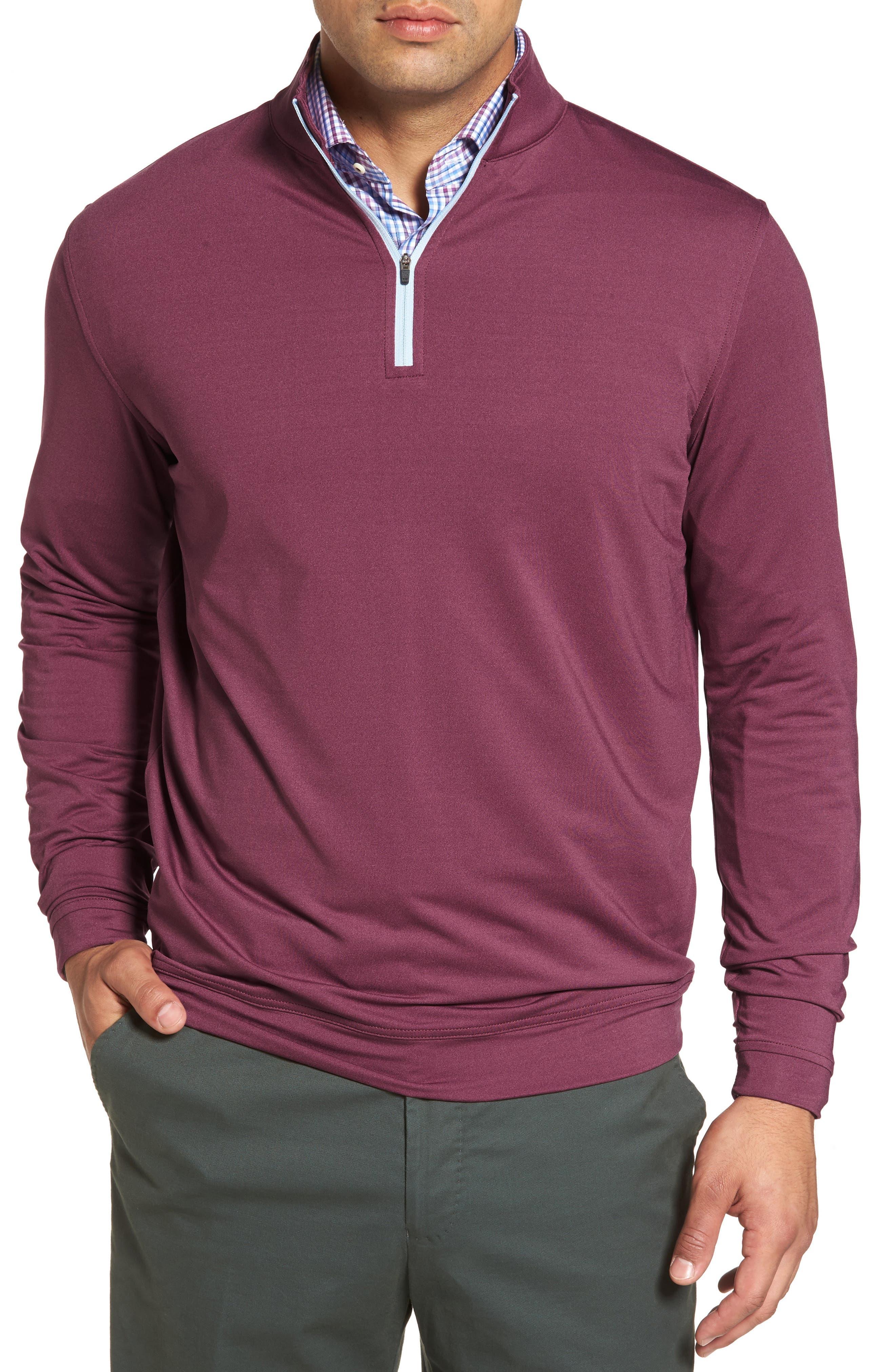 Perth Quarter Zip Stretch Pullover,                             Main thumbnail 5, color,