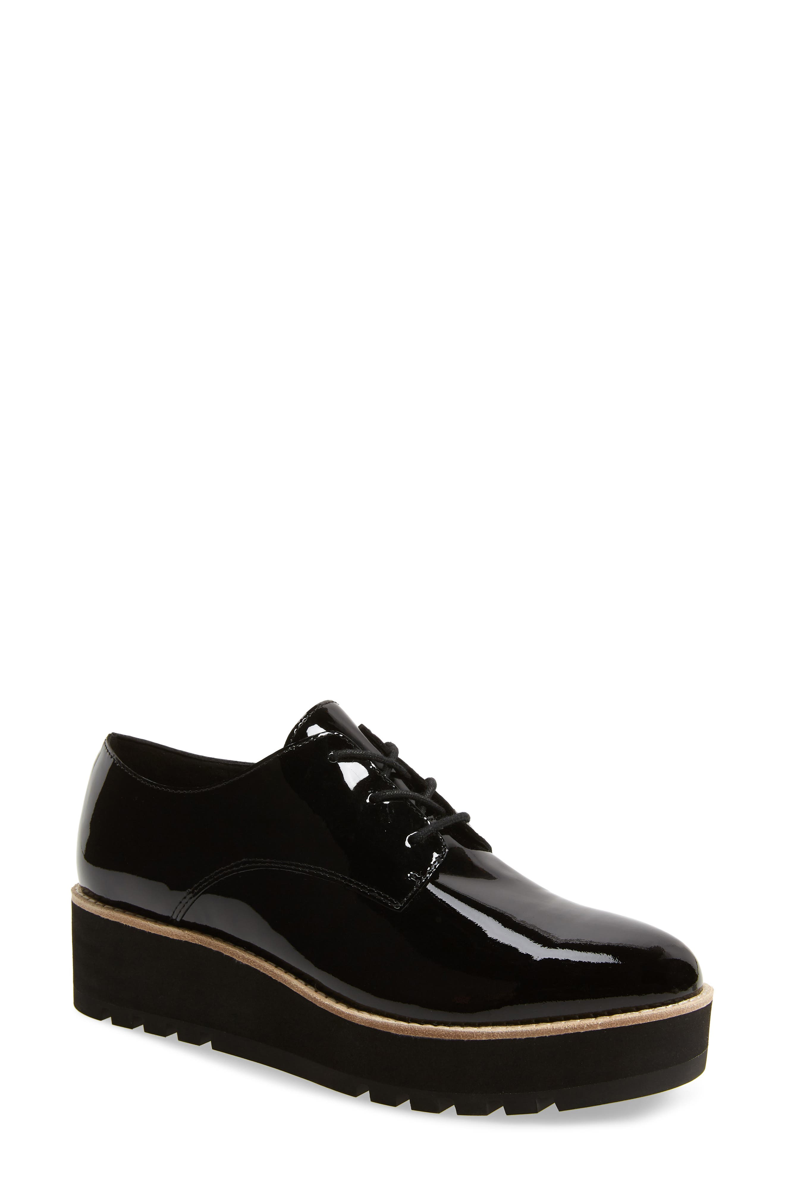Eddy Derby,                             Main thumbnail 1, color,                             BLACK PATENT LEATHER