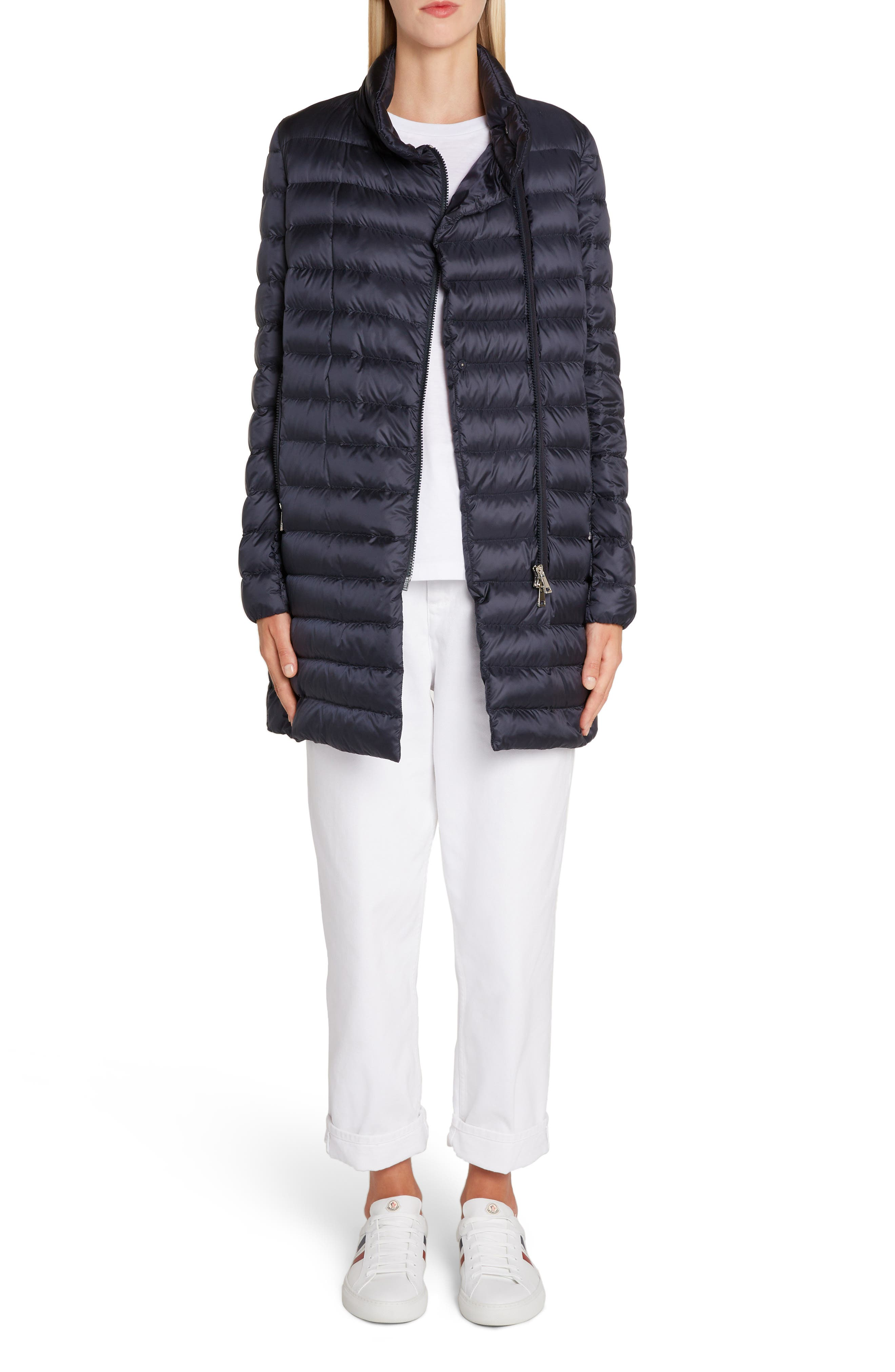 Quilted Down Coat,                             Alternate thumbnail 7, color,                             NAVY