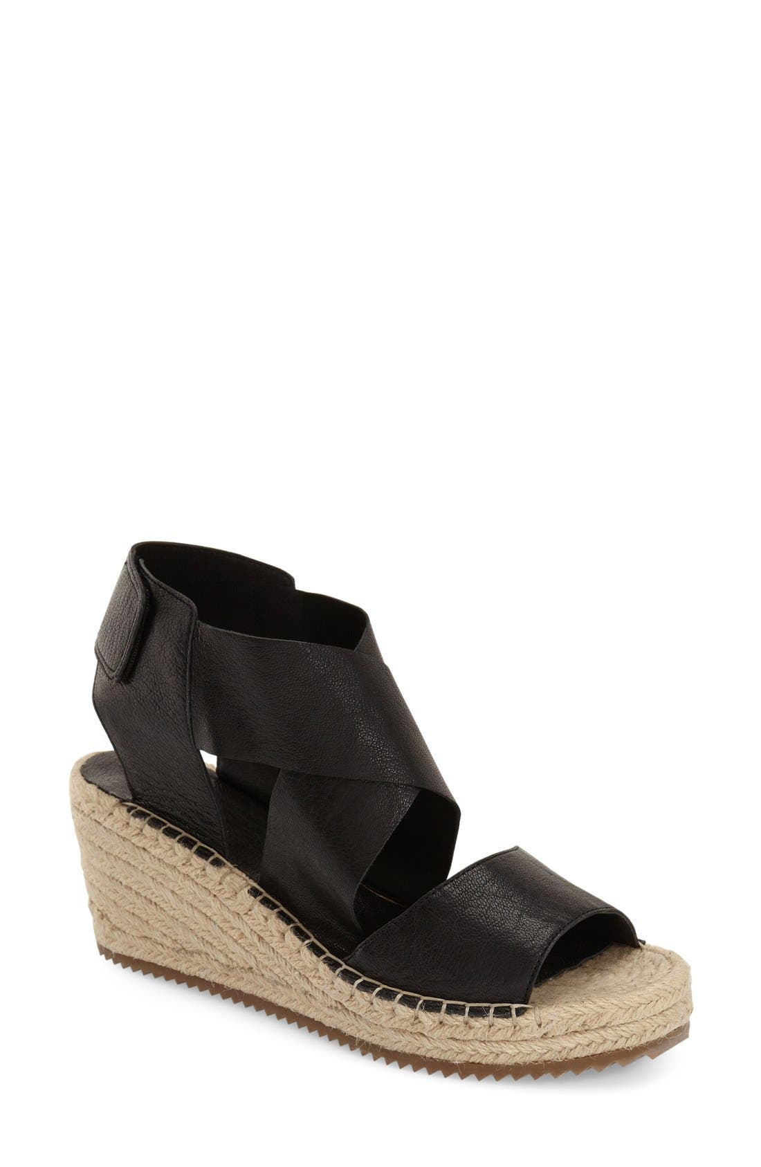 'Willow' Espadrille Wedge Sandal,                             Main thumbnail 1, color,                             001