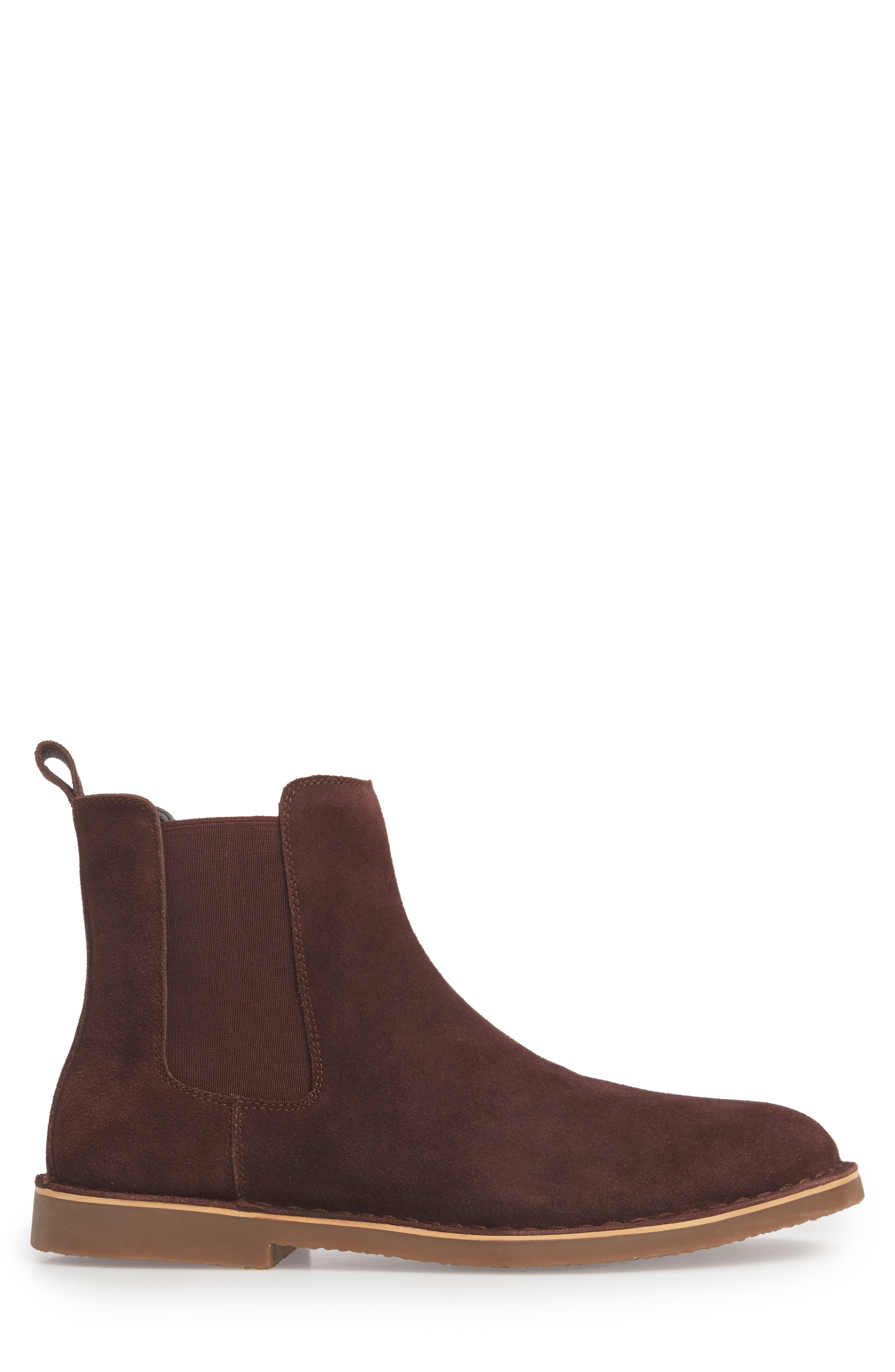Mesa Chelsea Boot,                             Alternate thumbnail 3, color,                             BURGUNDY SUEDE