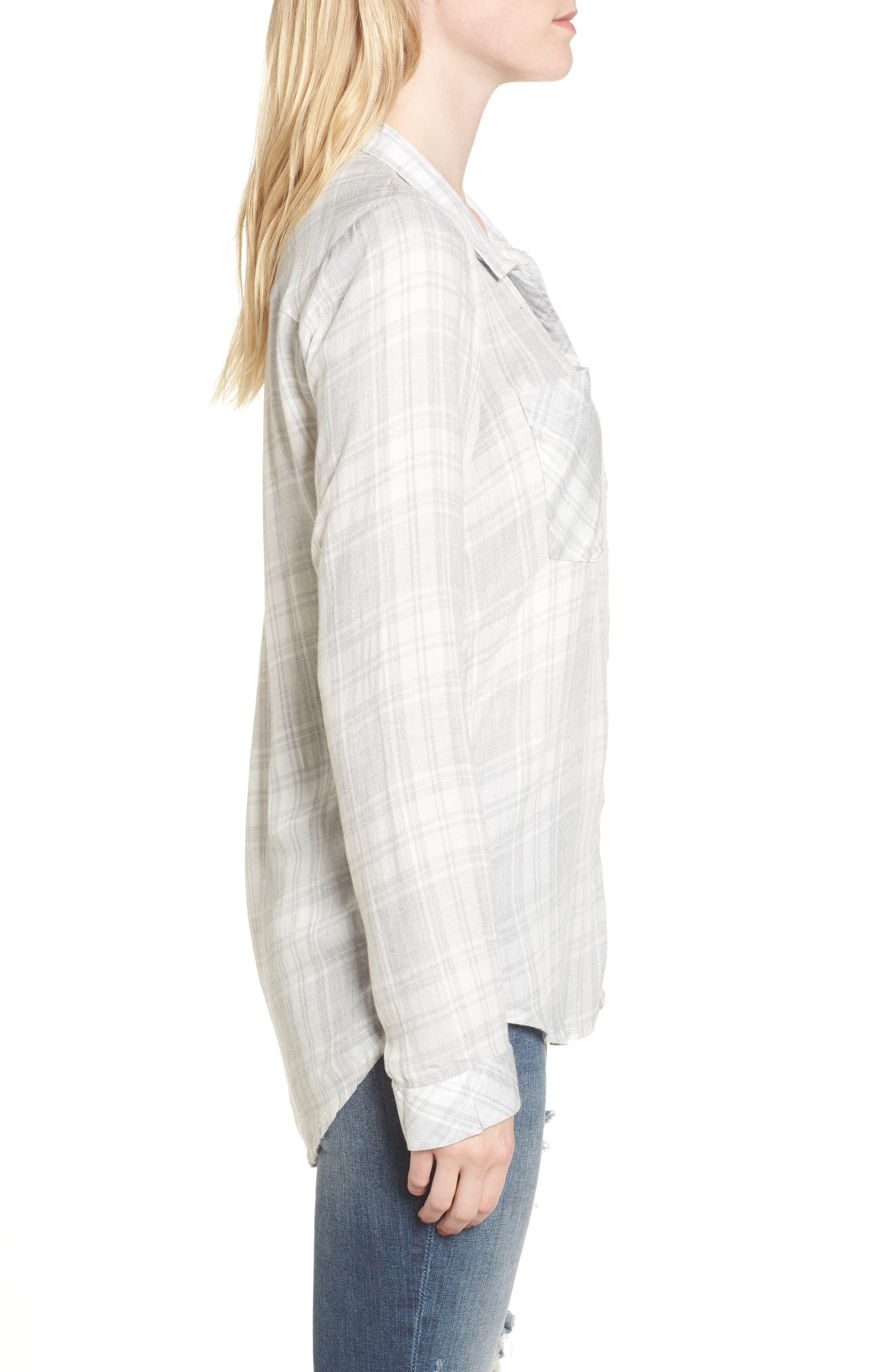 Zoey Plaid Shirt,                             Alternate thumbnail 3, color,                             051