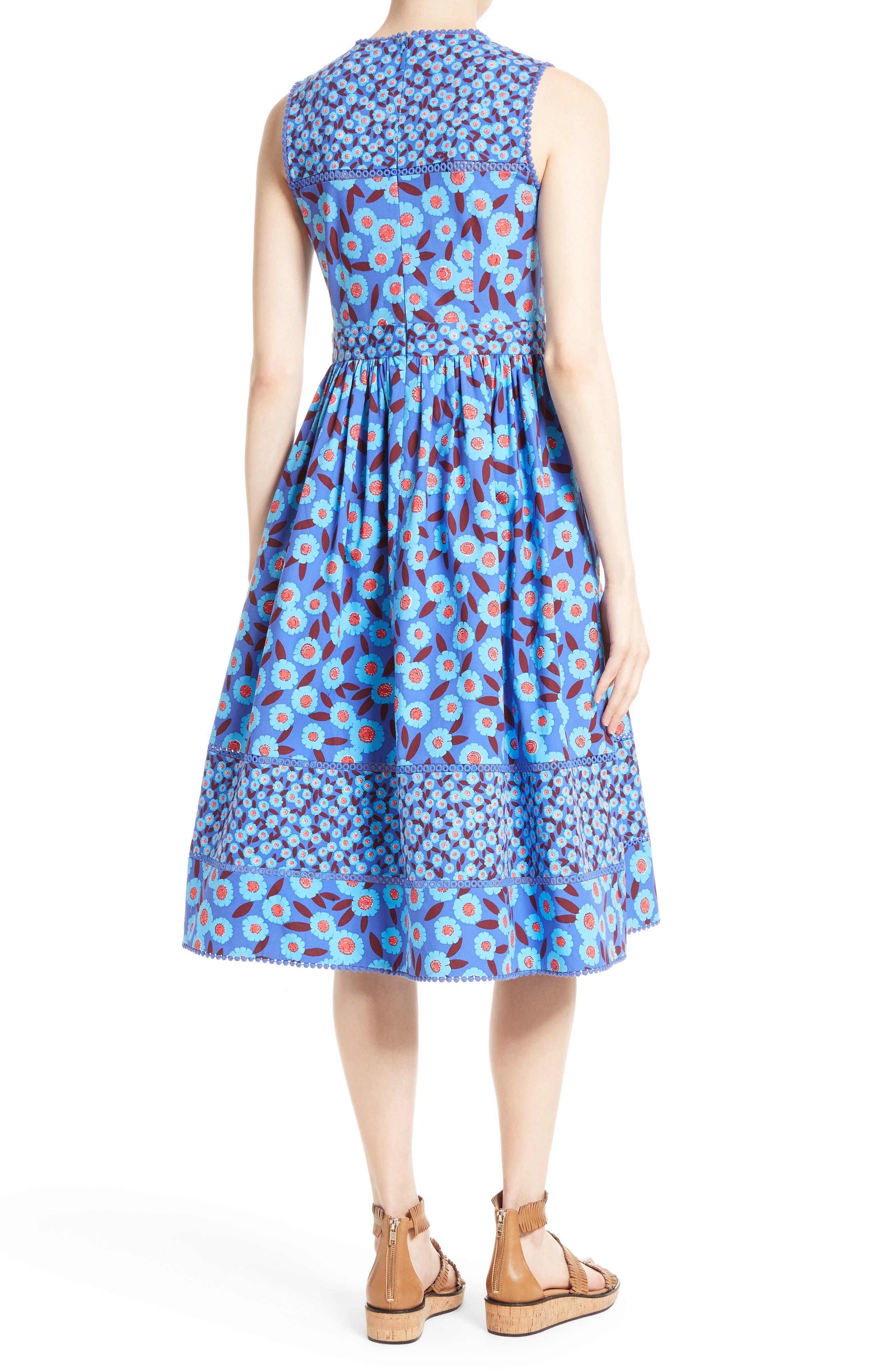 tangier floral midi dress,                             Alternate thumbnail 2, color,                             408