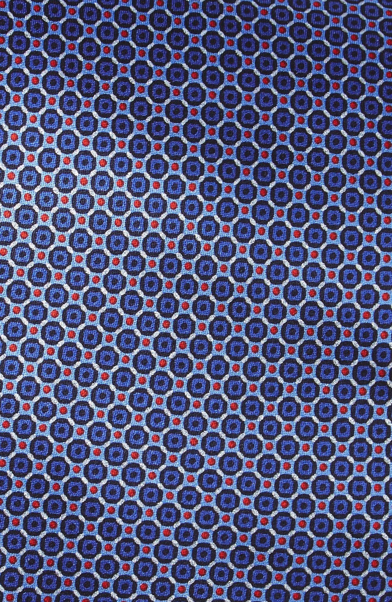 Geometric Silk Tie,                             Alternate thumbnail 2, color,                             420