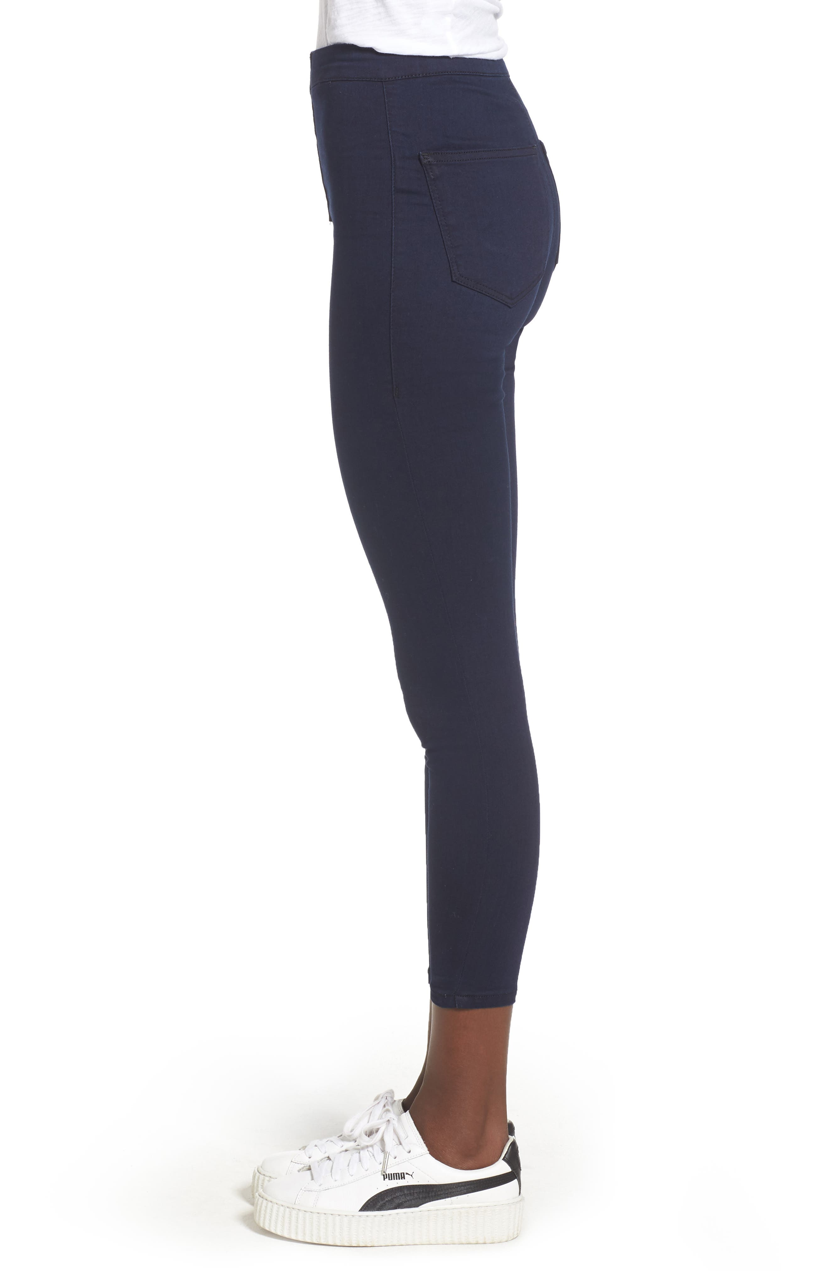 Joni Button Front Skinny Jeans,                             Alternate thumbnail 3, color,                             401