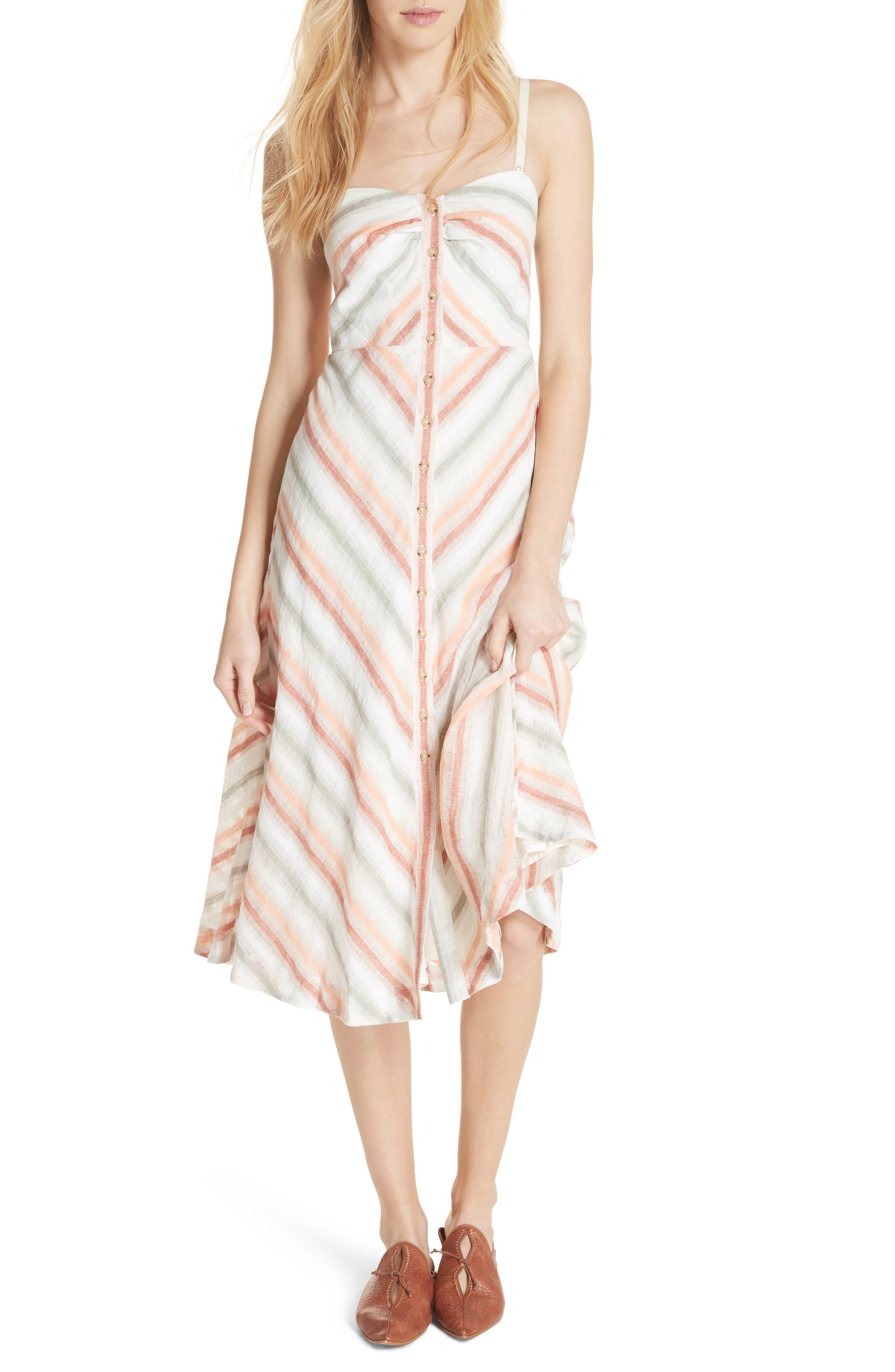 Striking Stripe Midi Dress,                             Alternate thumbnail 5, color,                             903