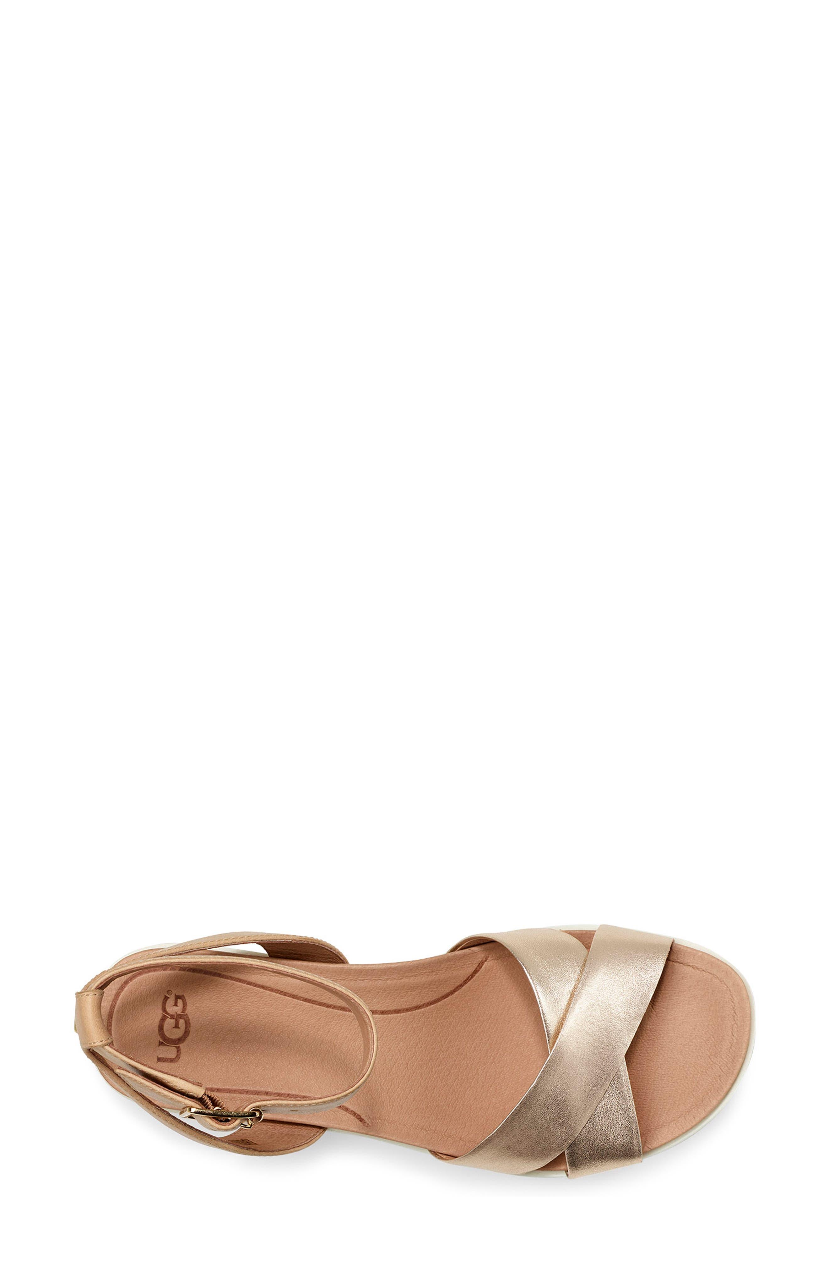 Tipton Metallic Platform Sandal,                             Alternate thumbnail 4, color,                             GOLD