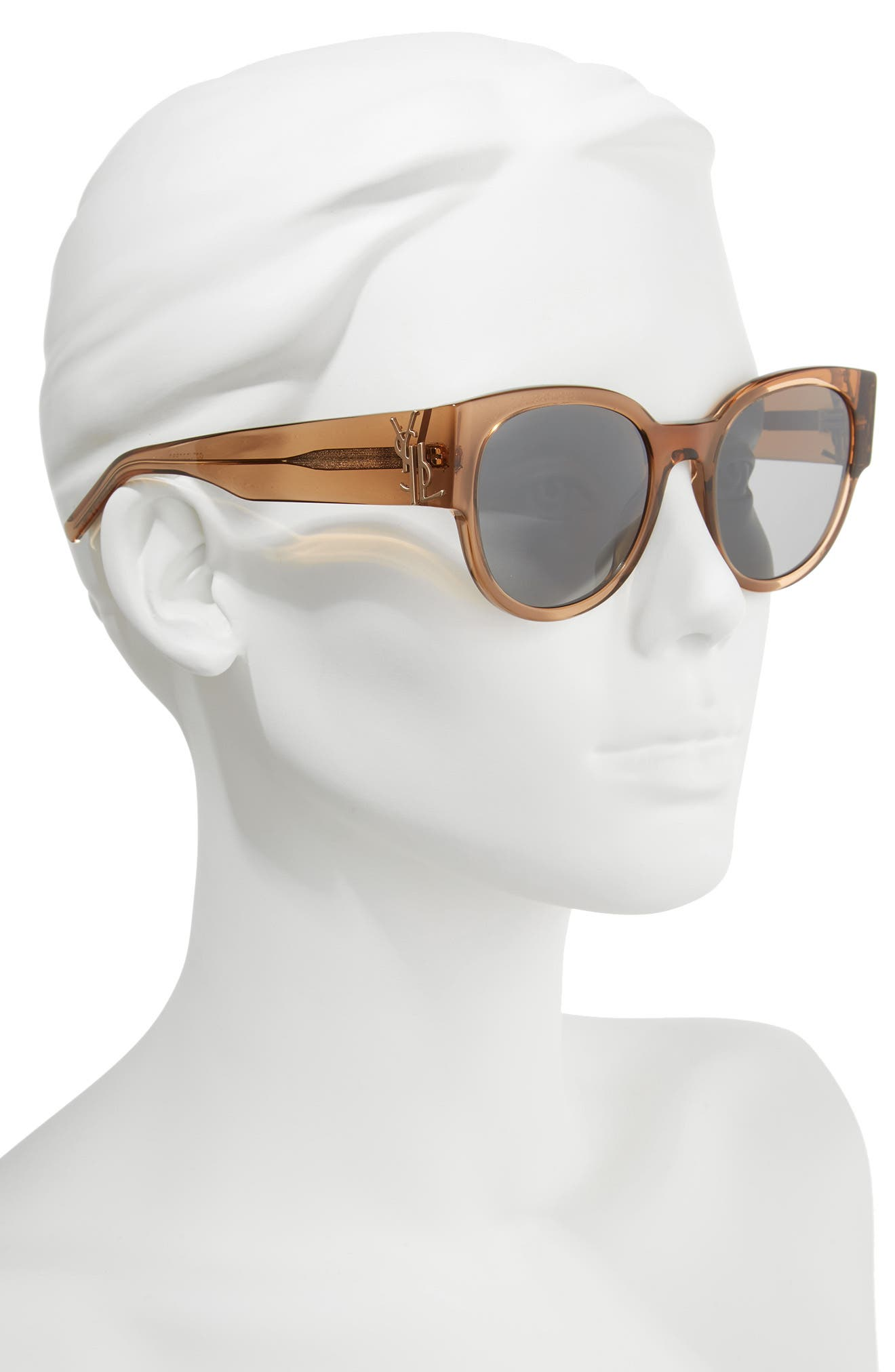 SL M19 54mm Cat Eye Sunglasses,                             Alternate thumbnail 2, color,                             NUDE
