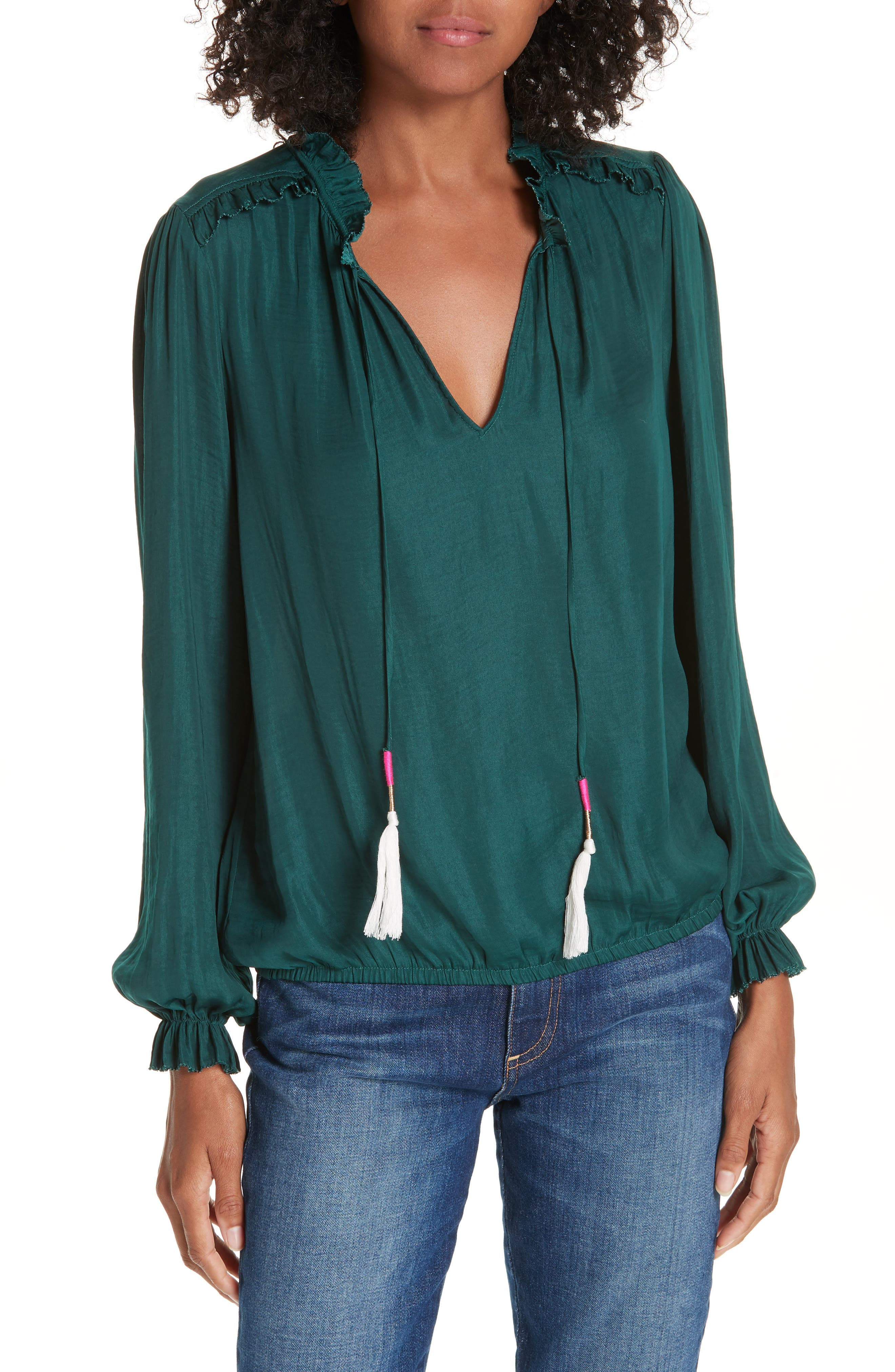 Cinched Hem Blouse,                         Main,                         color, 305