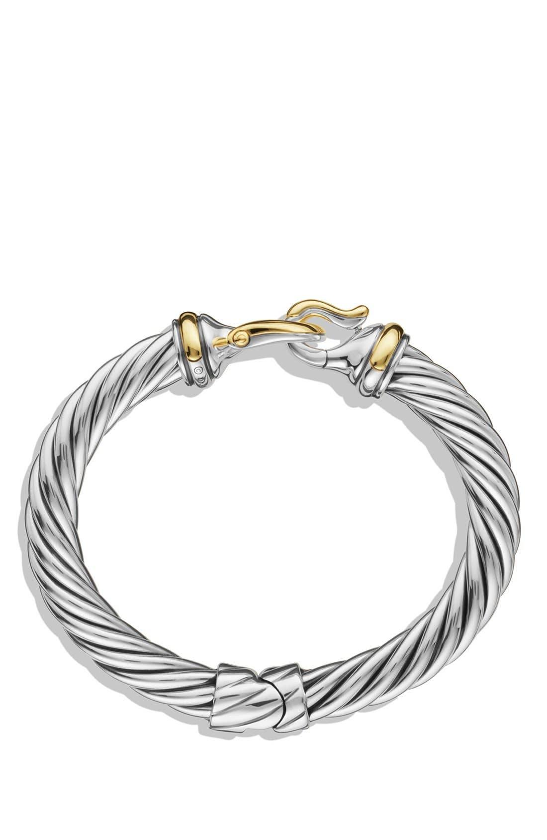 'Buckle' Cable Bracelet with Gold,                             Alternate thumbnail 2, color,                             TWO TONE