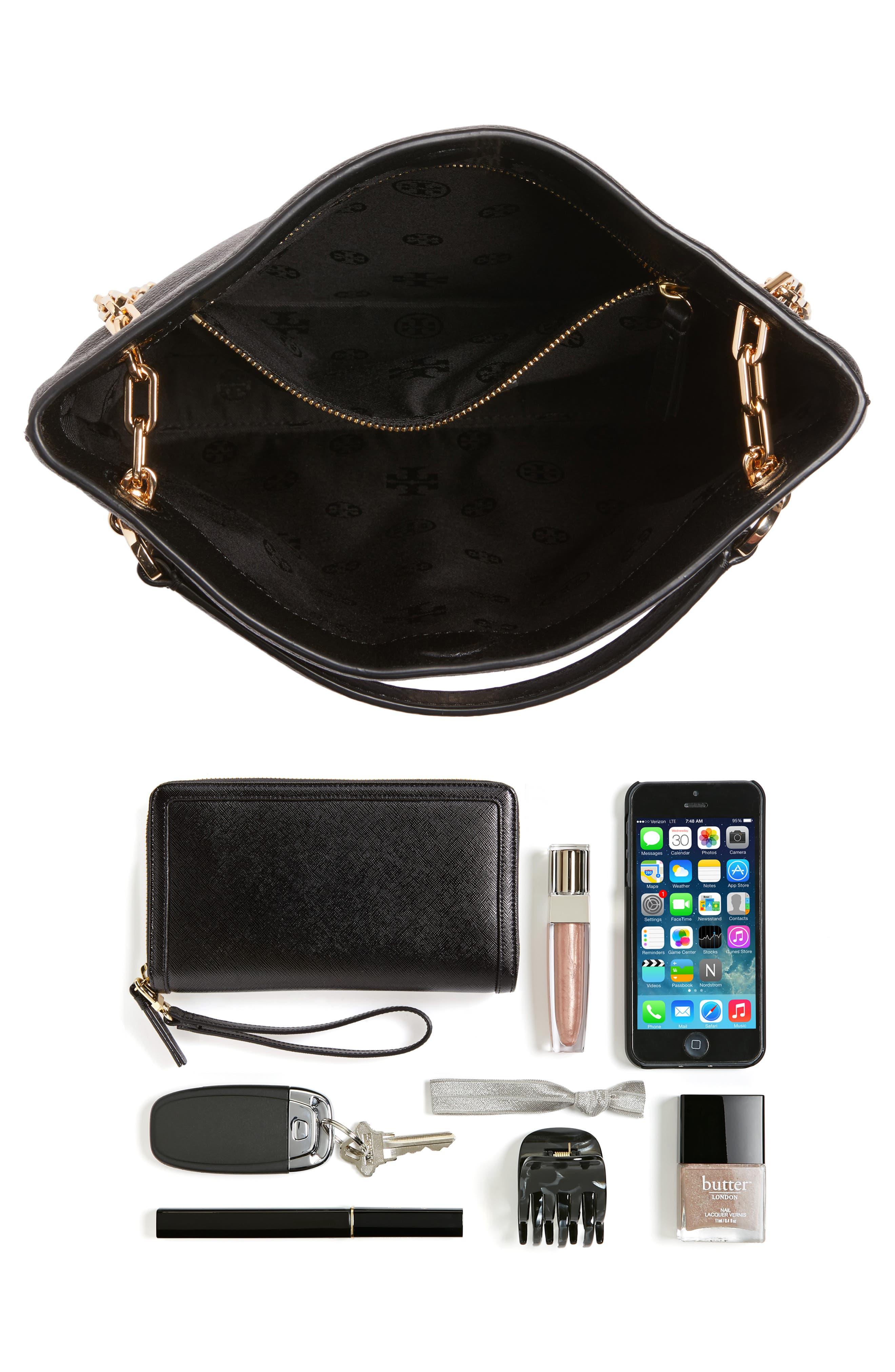Frida Swingpack Leather Crossbody Bag,                             Alternate thumbnail 7, color,                             001