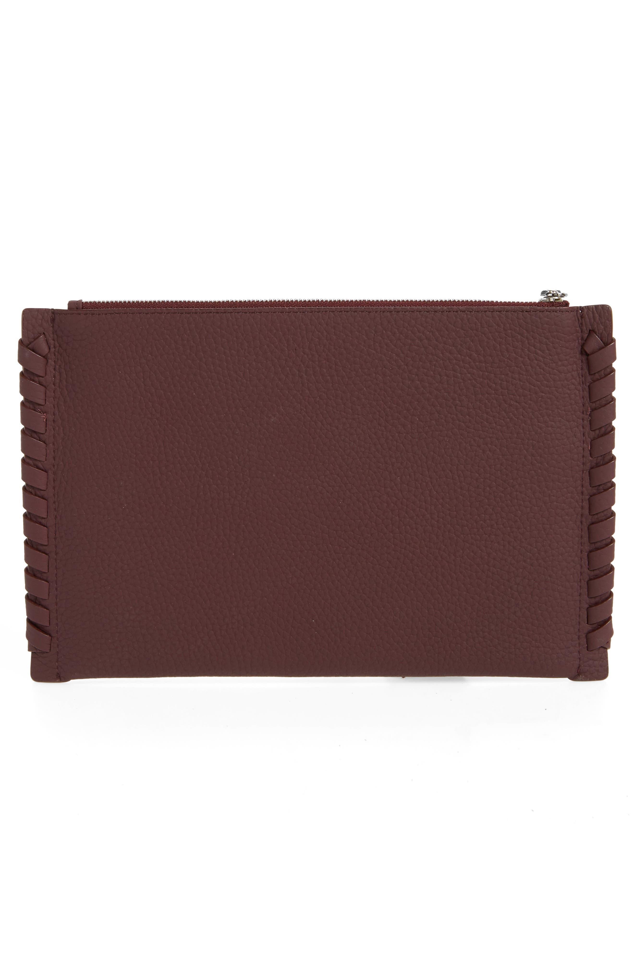 Kepi Leather Pouch,                             Alternate thumbnail 3, color,