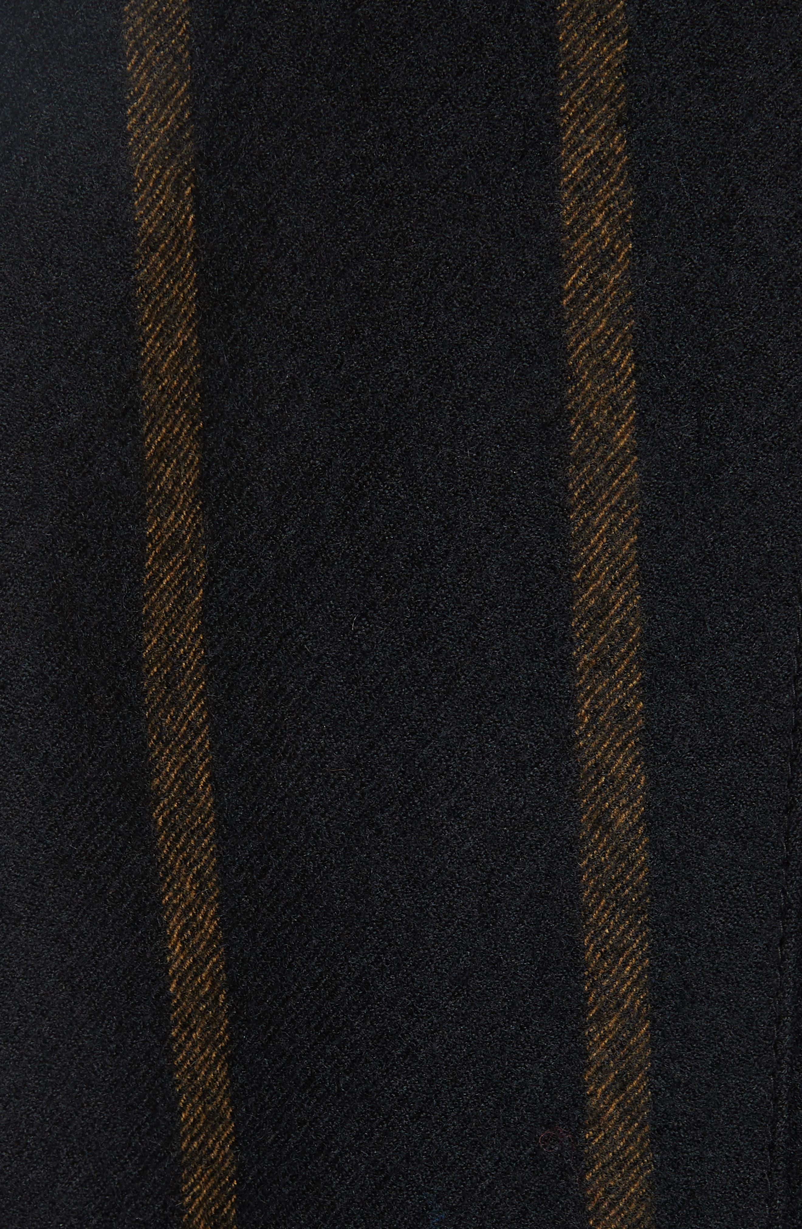 Stripe Peak Lapel Wool Blazer,                             Alternate thumbnail 6, color,                             002