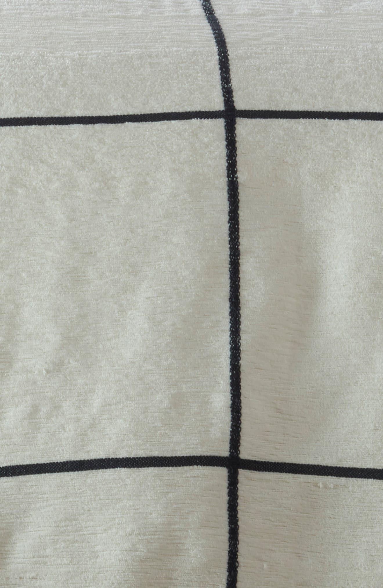 Grid Duvet Cover,                             Alternate thumbnail 2, color,                             IVORY