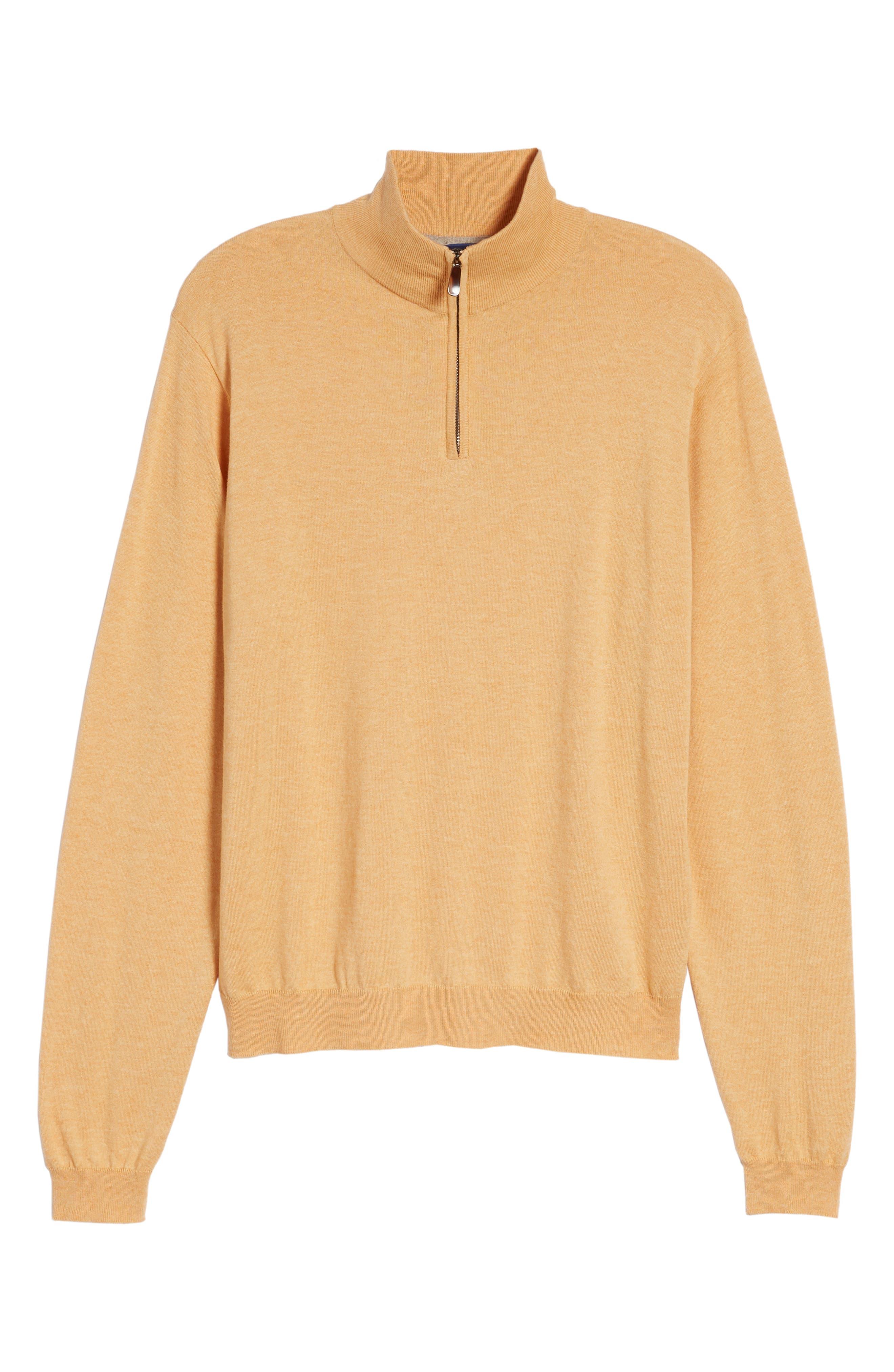 Cotton & Silk Quarter Zip Pullover,                             Alternate thumbnail 6, color,                             830