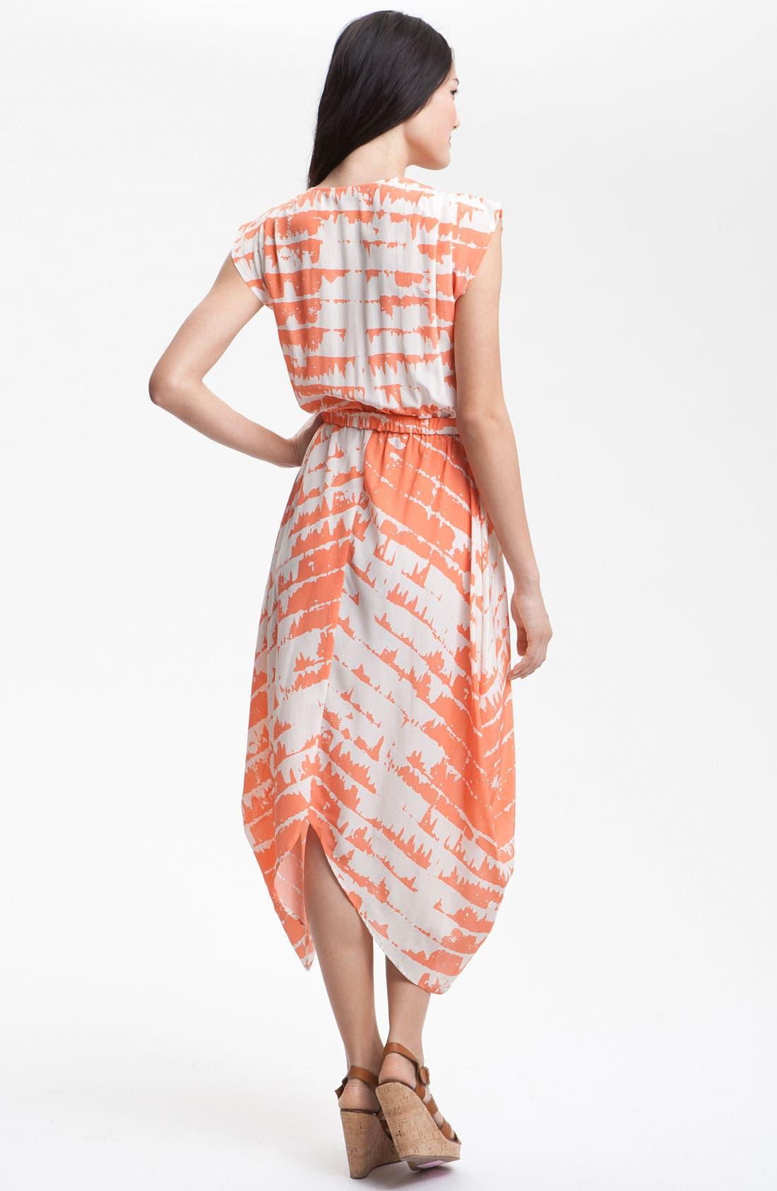 'Opal' Print Silk Maxi Dress,                             Alternate thumbnail 3, color,                             810