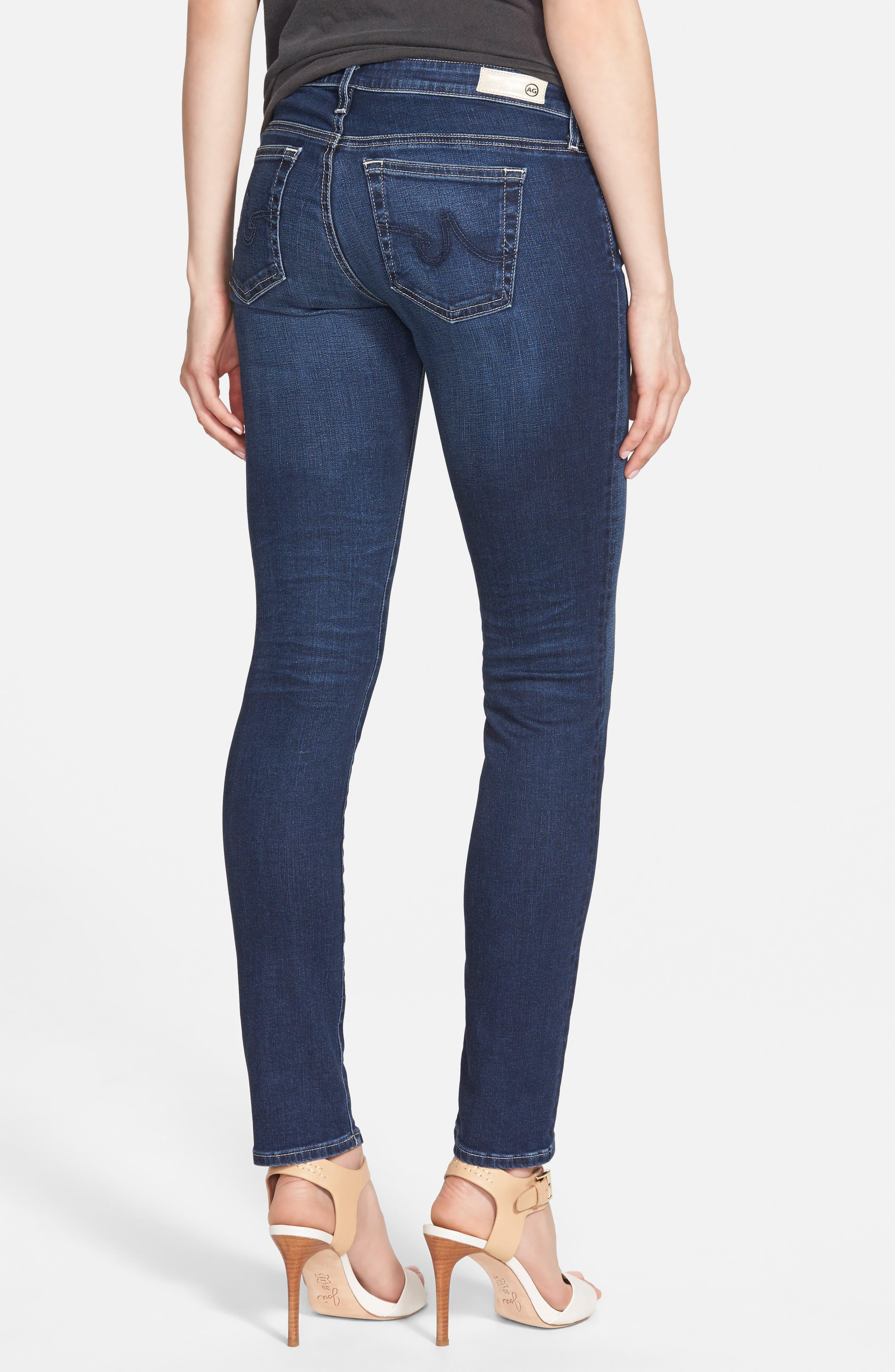 The Stilt Cigarette Leg Jeans,                             Alternate thumbnail 4, color,                             401