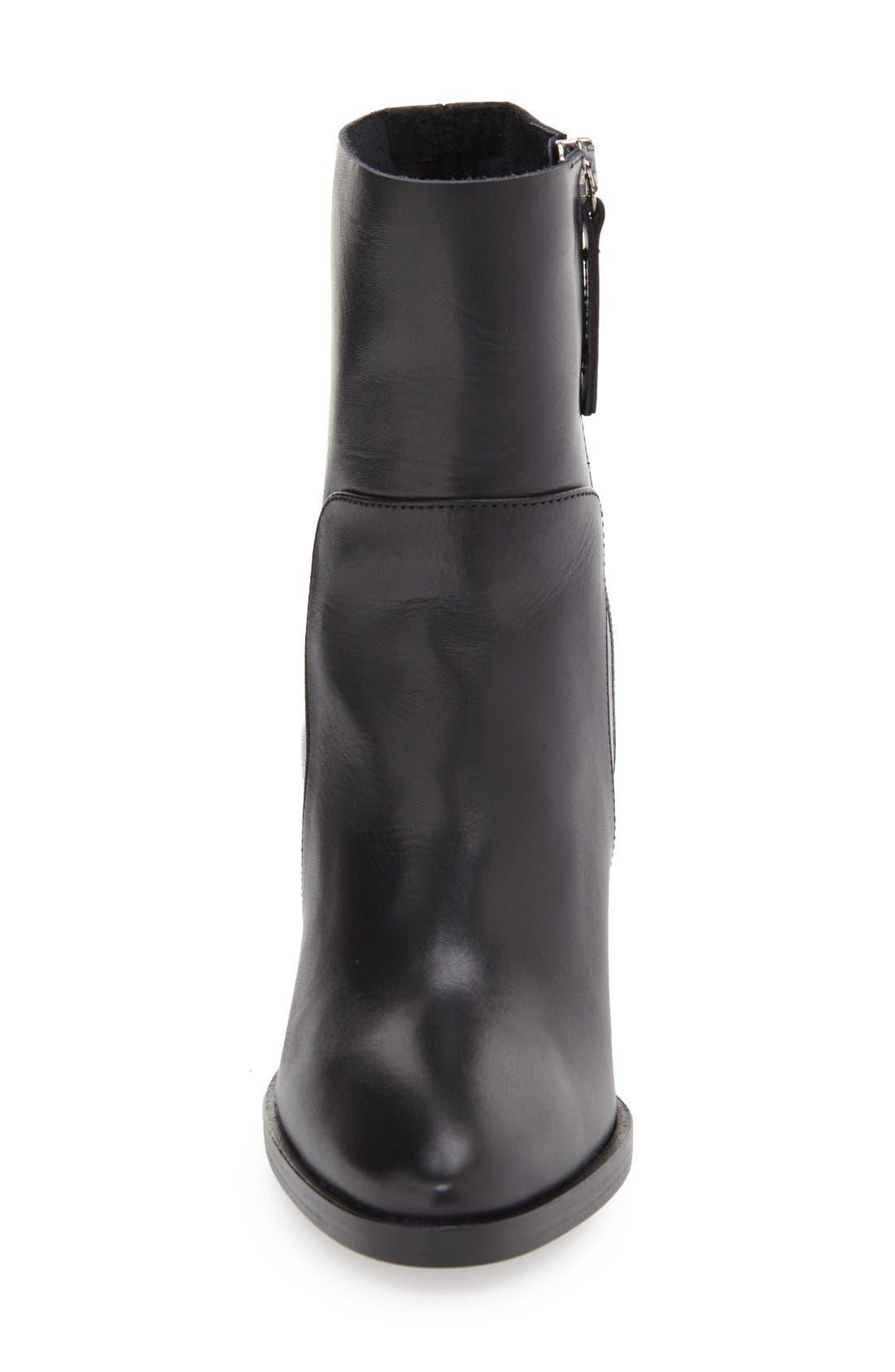 'Million' Pointy Toe Zip Boot,                             Alternate thumbnail 4, color,                             001
