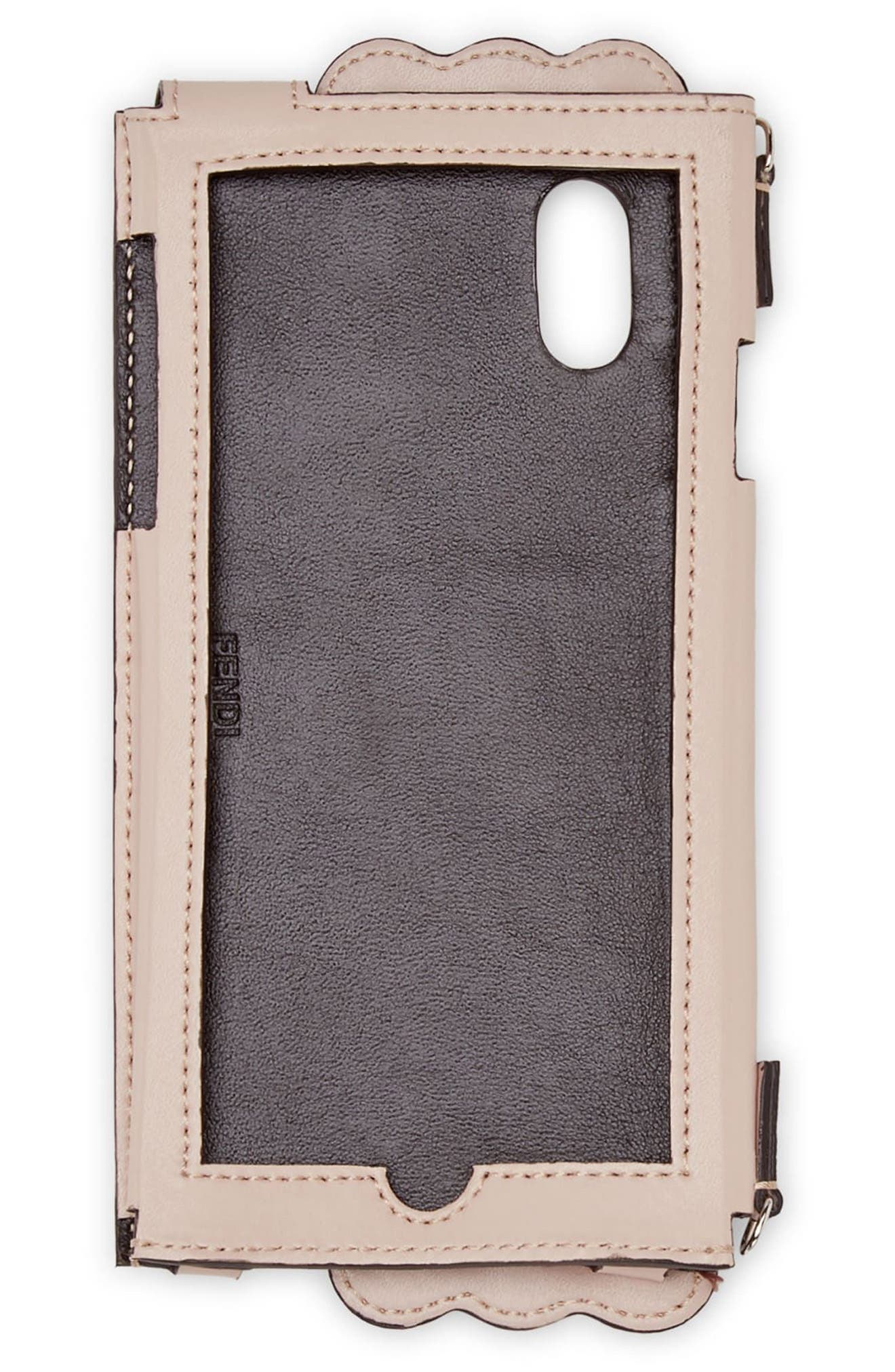 iPhone Studded Leather iPhone X & Xs Crossbody Case,                             Alternate thumbnail 2, color,                             650