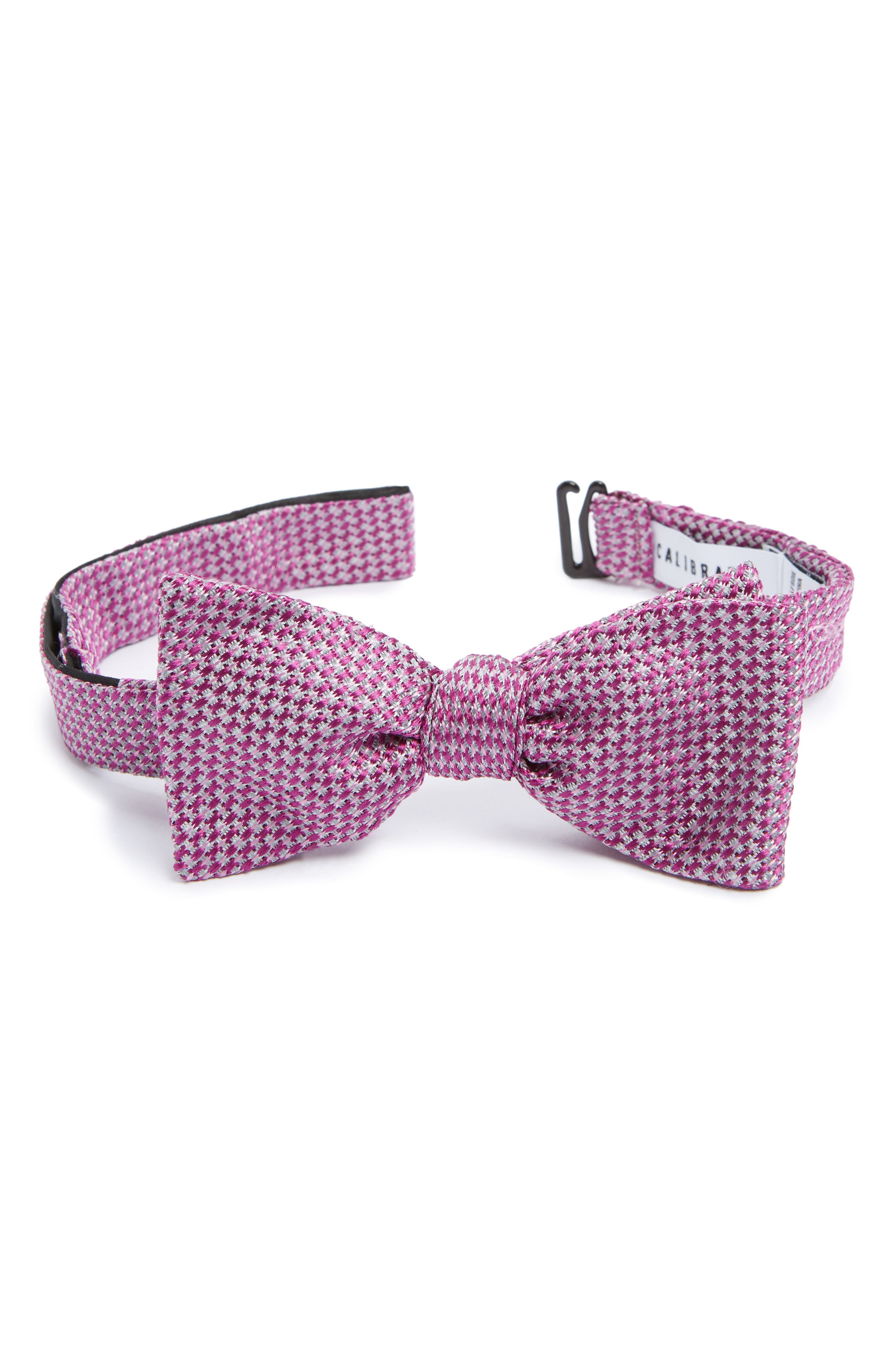 Textured Silk Bow Tie,                             Alternate thumbnail 4, color,