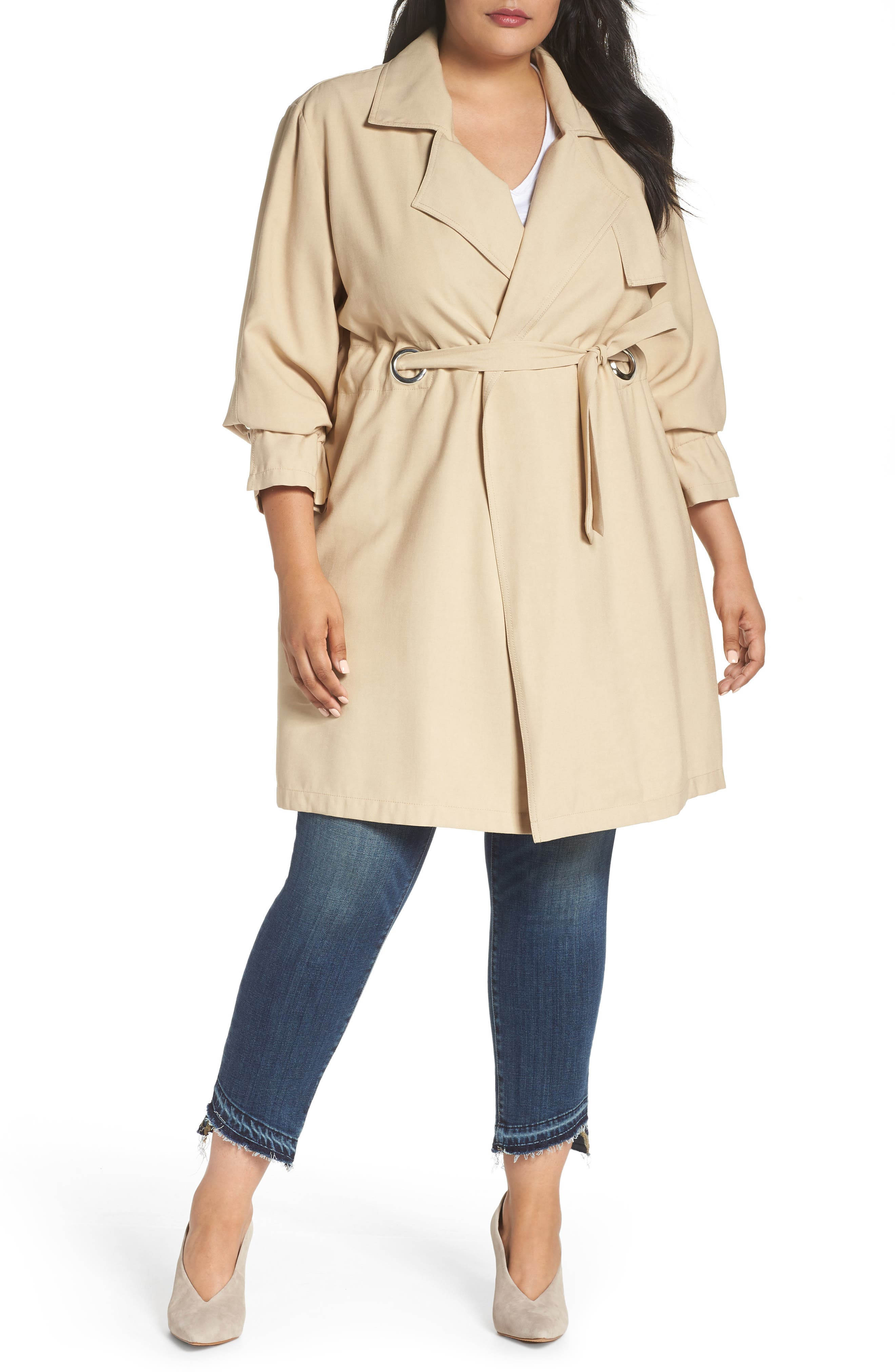 REBEL WILSON X ANGELS Draped Trench Jacket, Main, color, 251
