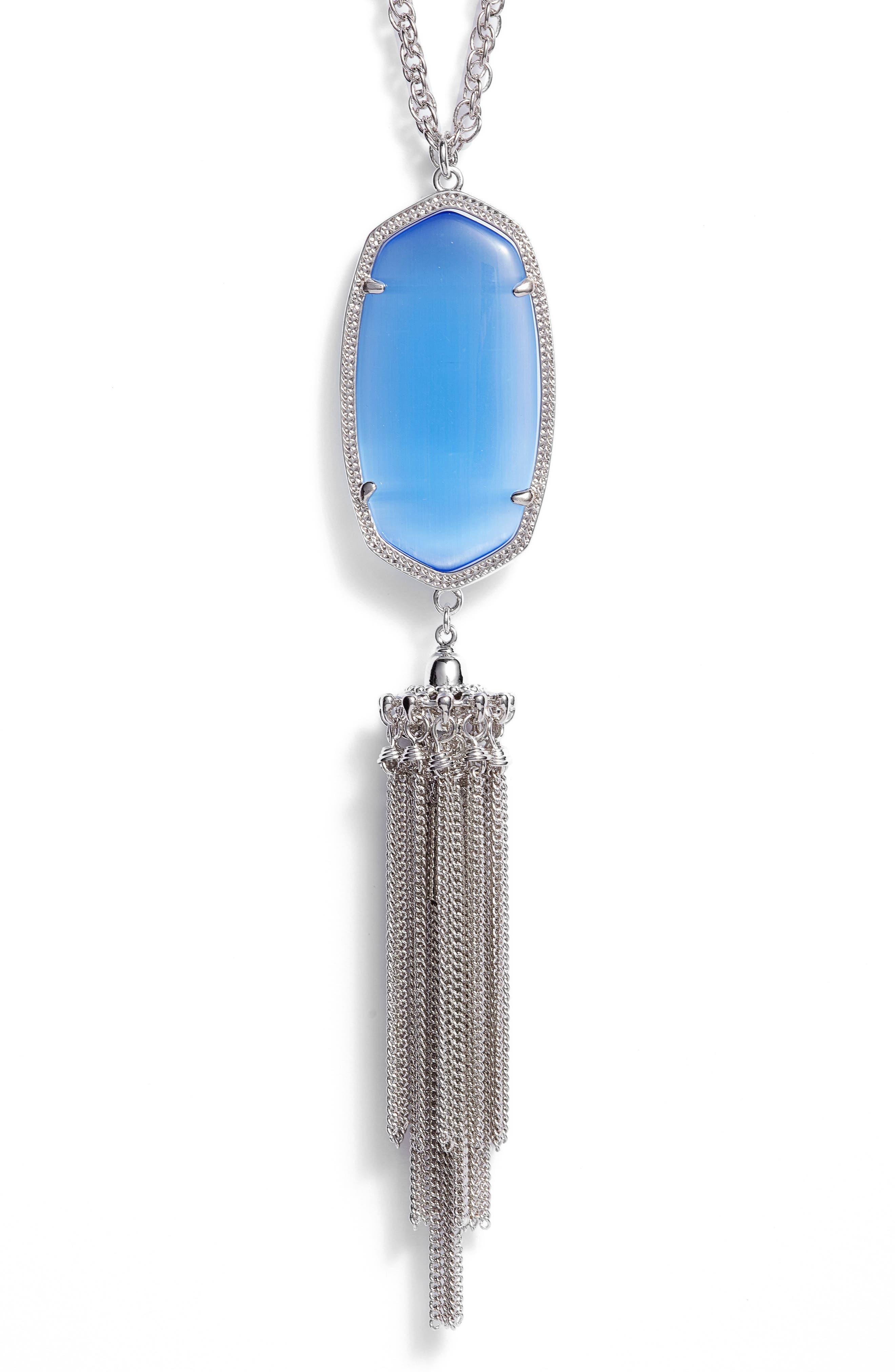 Rayne Stone Tassel Pendant Necklace,                             Alternate thumbnail 82, color,