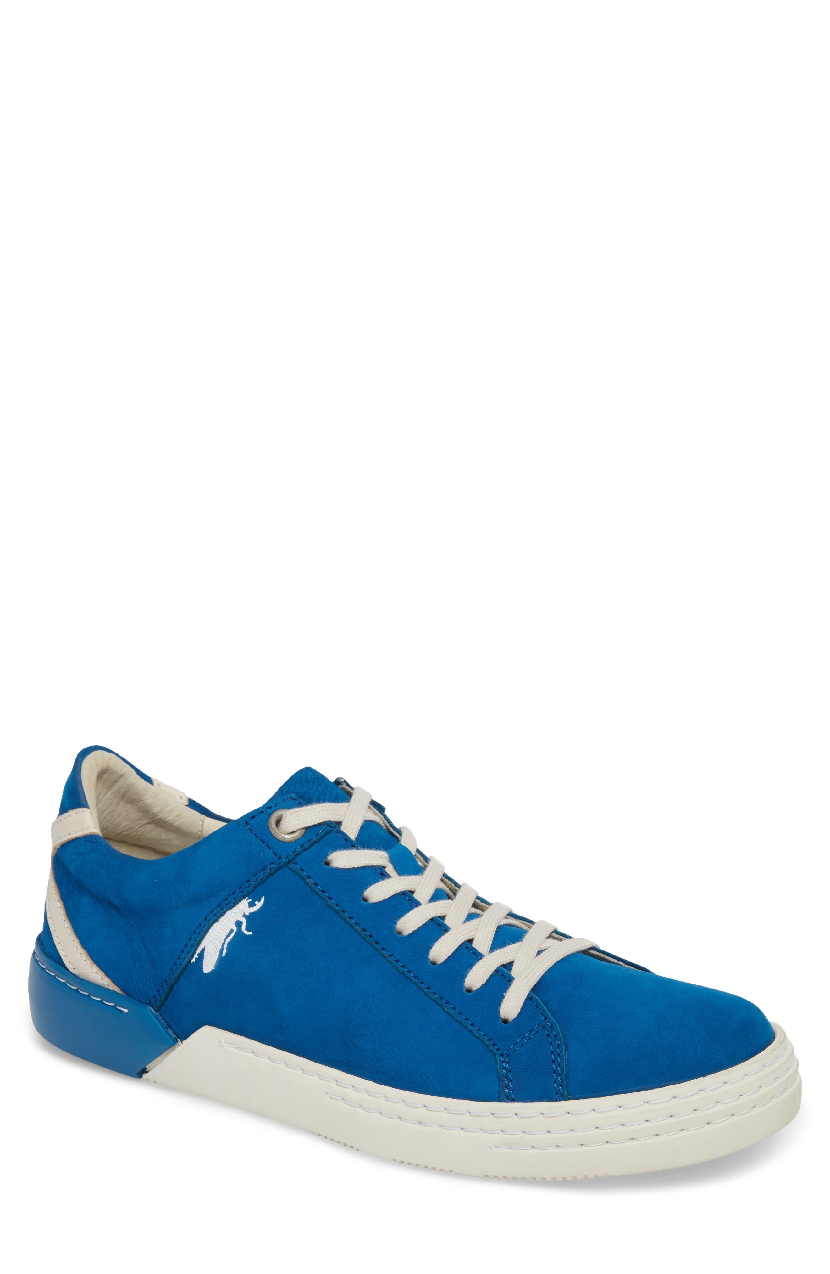 Sene Low Top Sneaker,                             Main thumbnail 1, color,                             ELECTRIC BLUE LEATHER