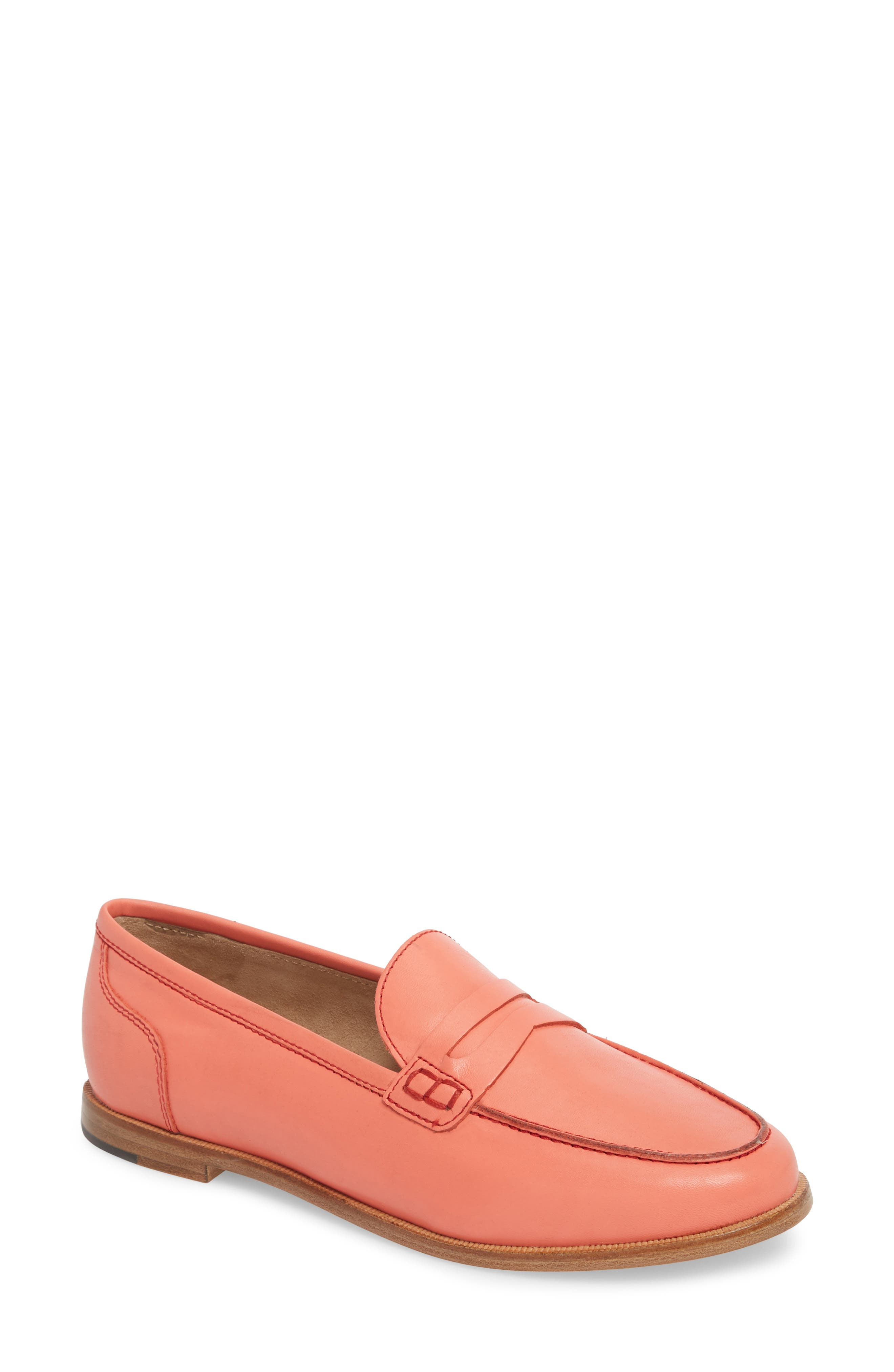 Ryan Penny Loafer,                         Main,                         color, RUST LEATHER
