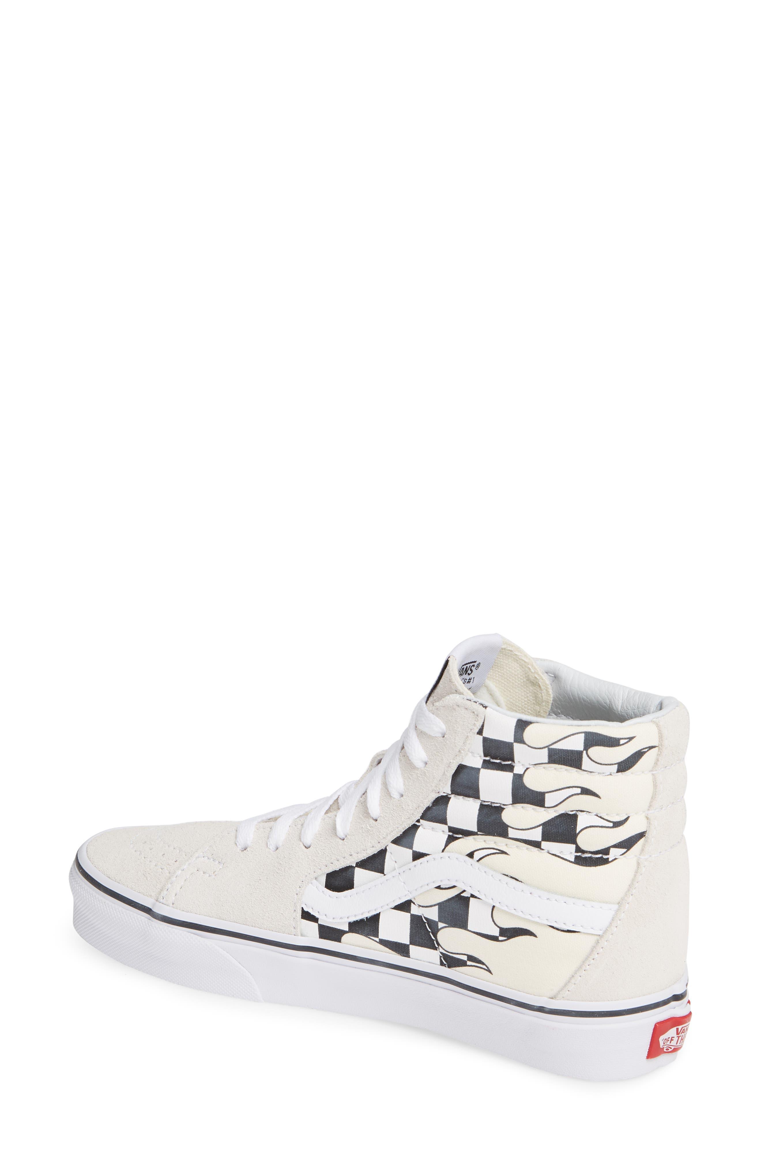 Sk8-Hi Checker Sneaker,                             Alternate thumbnail 2, color,                             CLASSIC WHITE/ TRUE WHITE