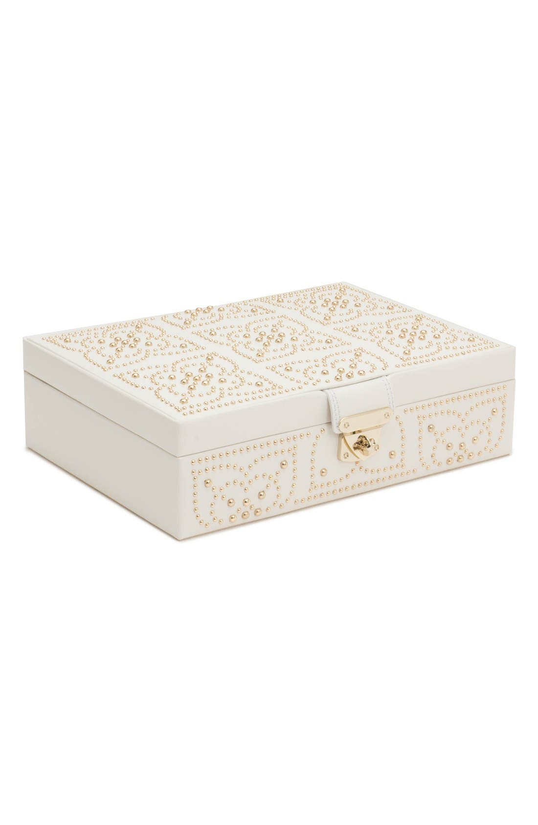 'Marrakesh' Flat Jewelry Box,                         Main,                         color, CREAM