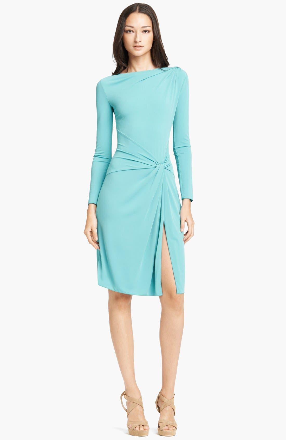 Armani Collezioni Long Sleeve Jersey Dress