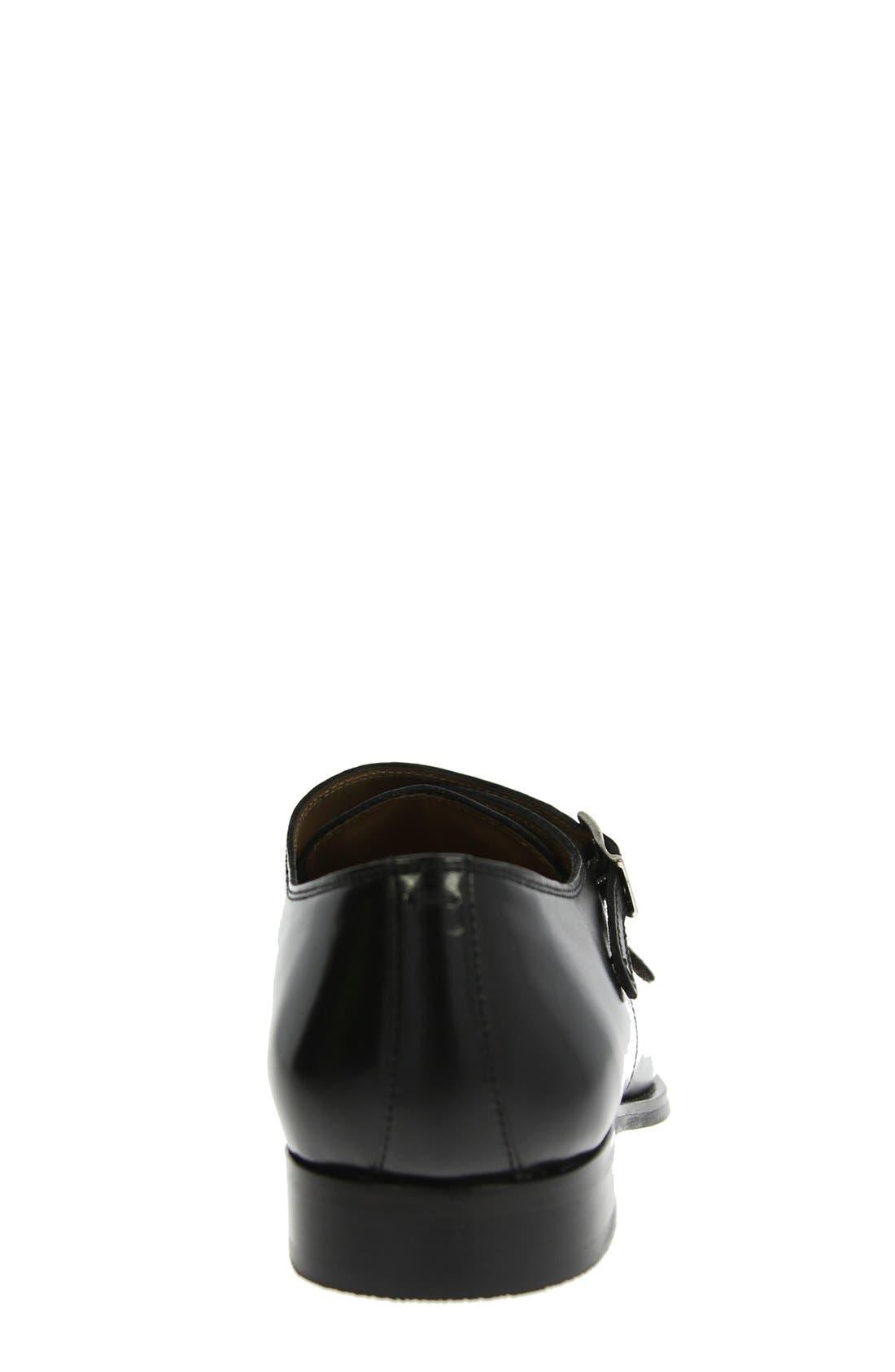 'Sabato' Double Monk Strap Shoe,                             Alternate thumbnail 6, color,                             001