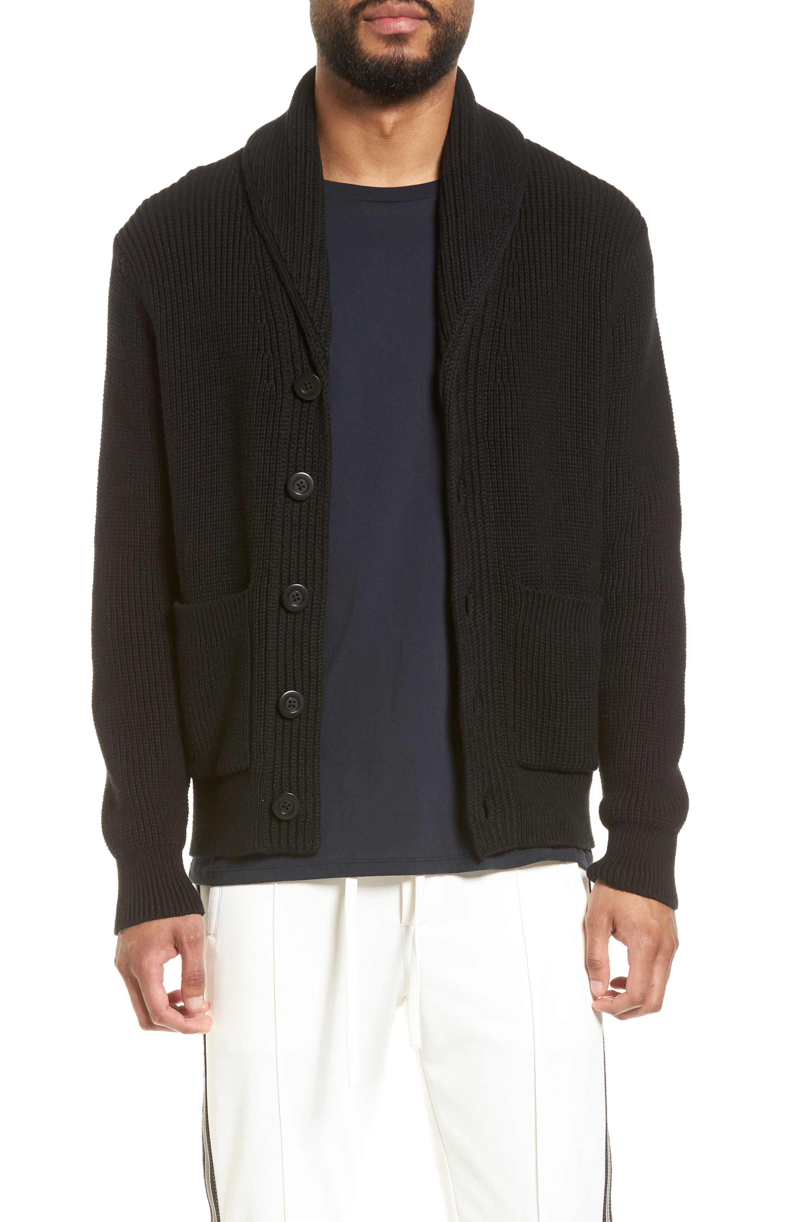Shawl Collar Cardigan, Main, color, 001