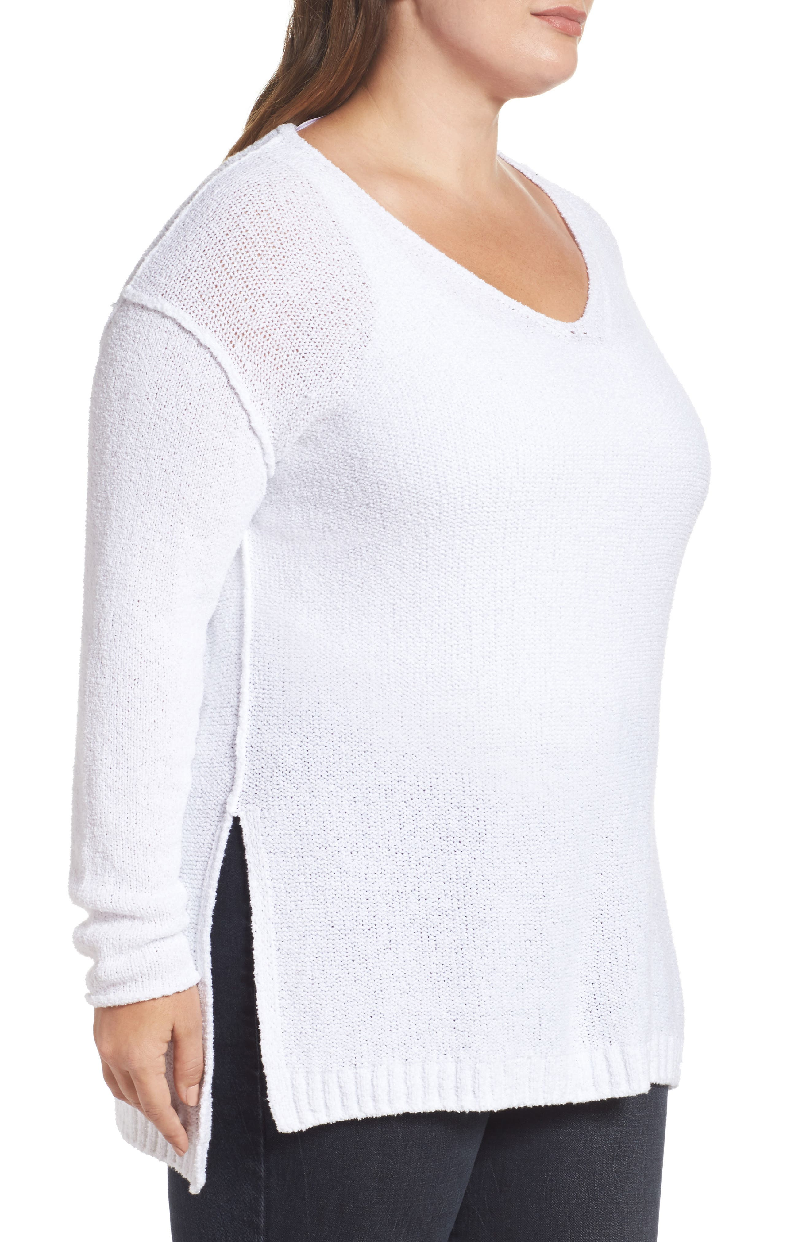 Tunic Sweater,                             Alternate thumbnail 3, color,                             100