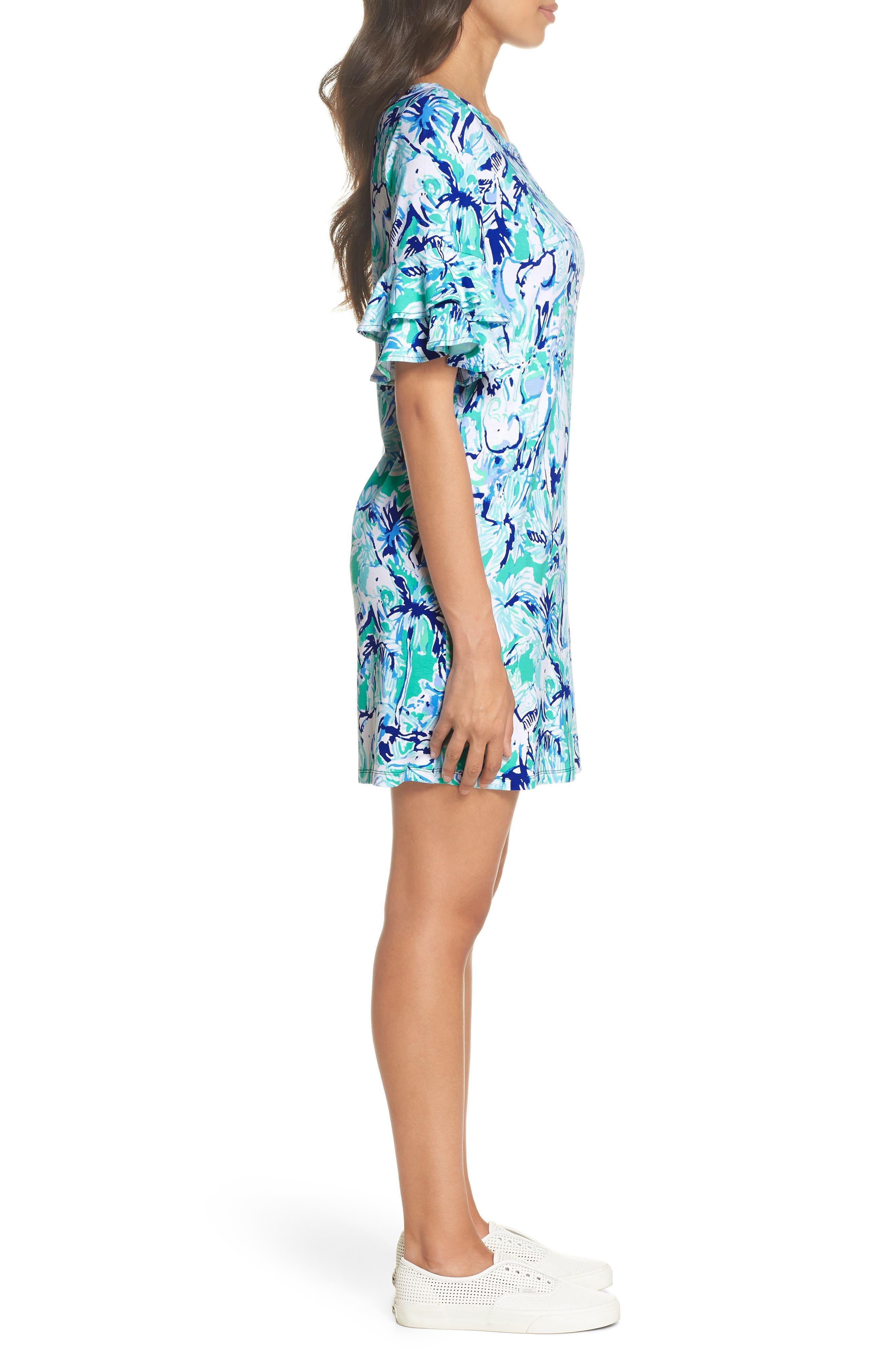 LILLY PULITZER<SUP>®</SUP>,                             Lula Ruffle Sleeve Dress,                             Alternate thumbnail 3, color,                             421