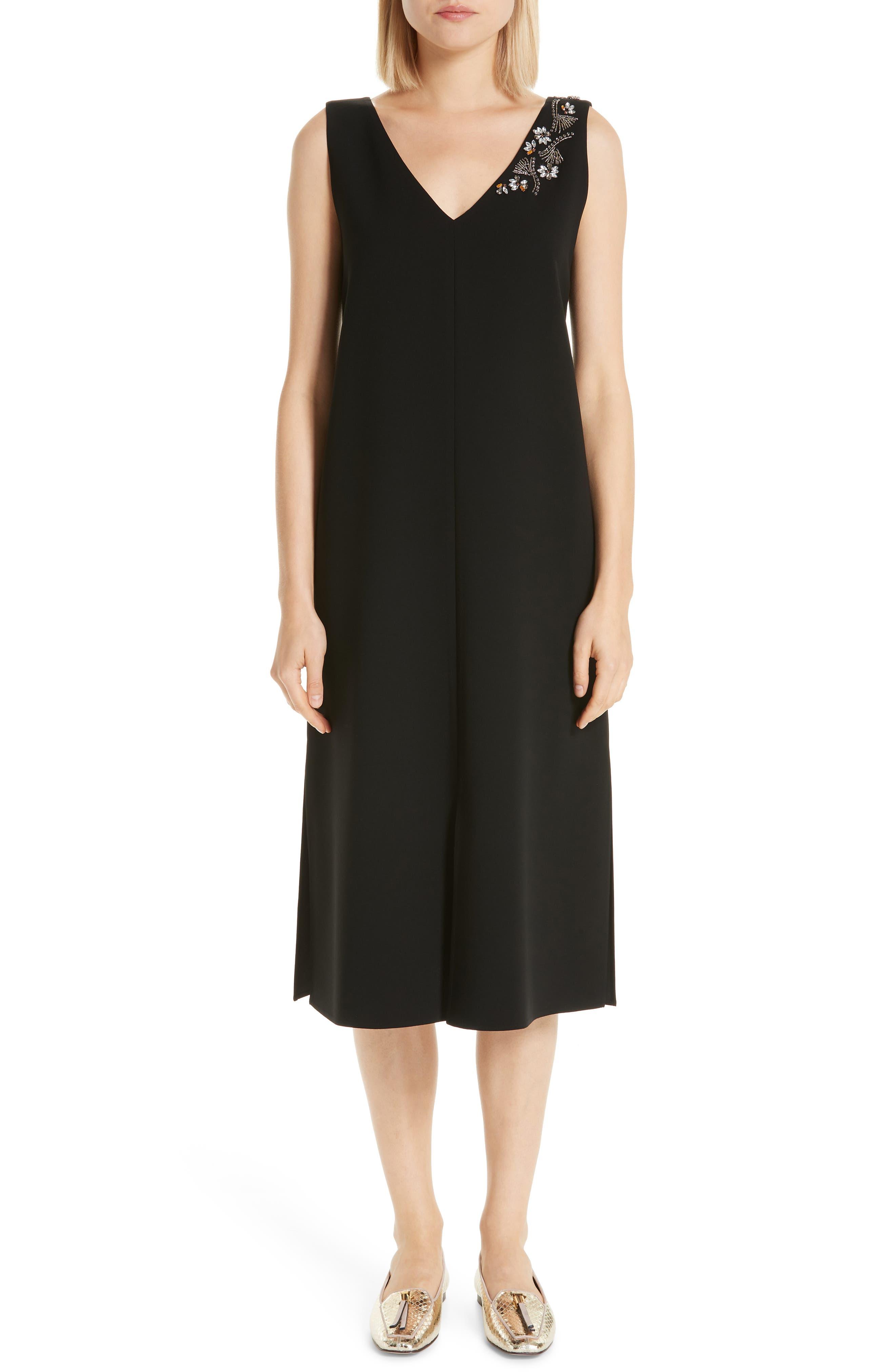 Lafayette 148 New York Dante Embellished Dress, Black