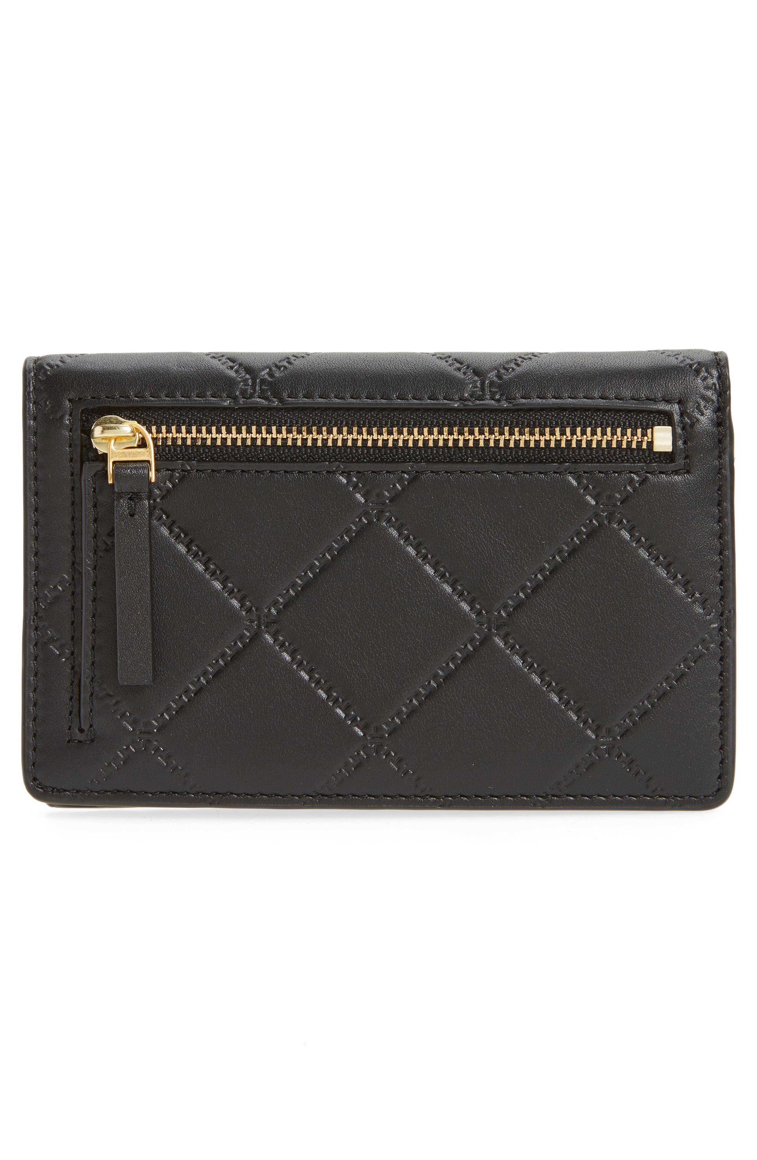 Medium Georgia Slim Leather Wallet,                             Alternate thumbnail 4, color,                             001