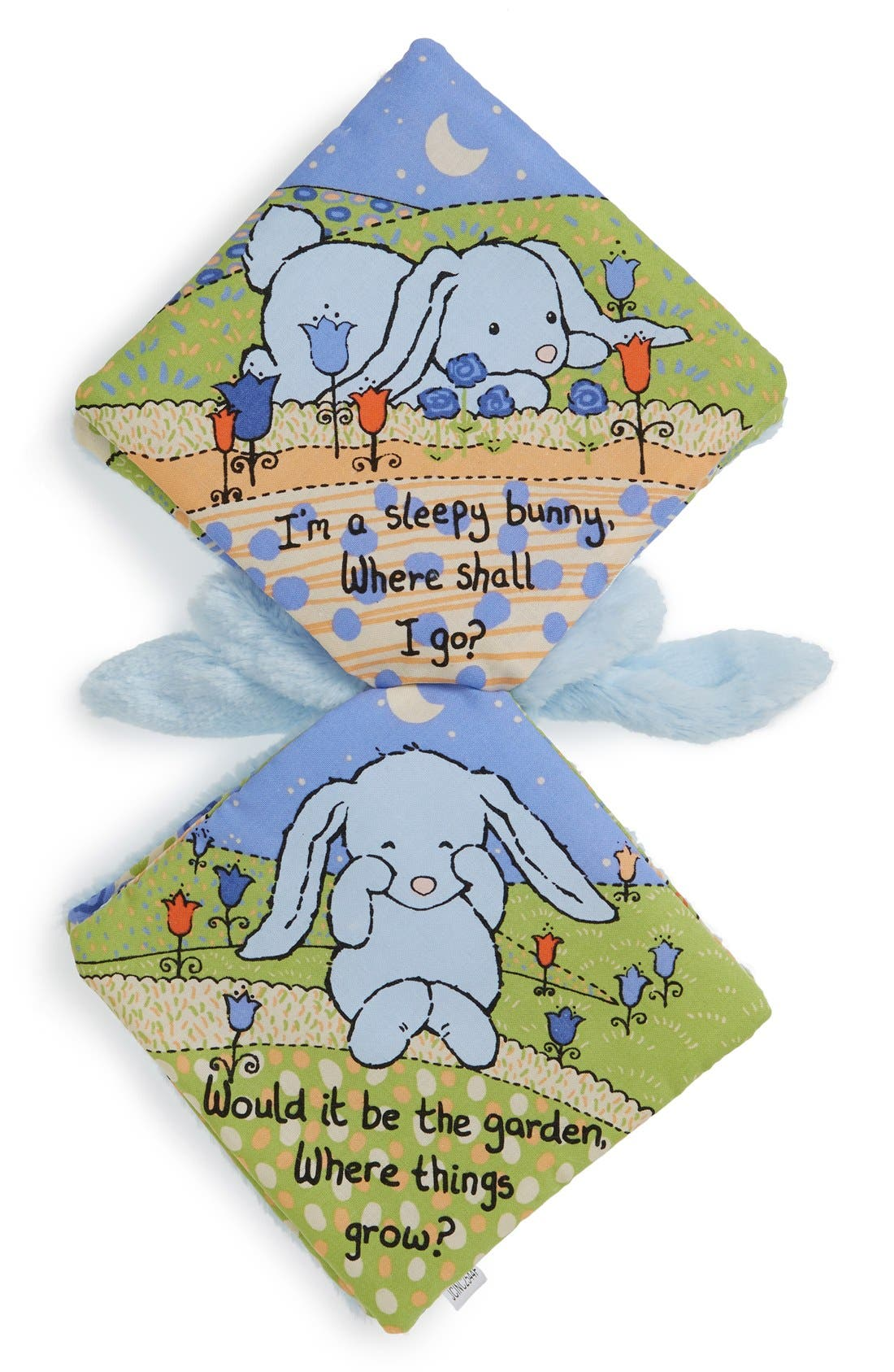 'Sleepy Bunny' Soft Fabric Book,                             Alternate thumbnail 2, color,                             BLUE