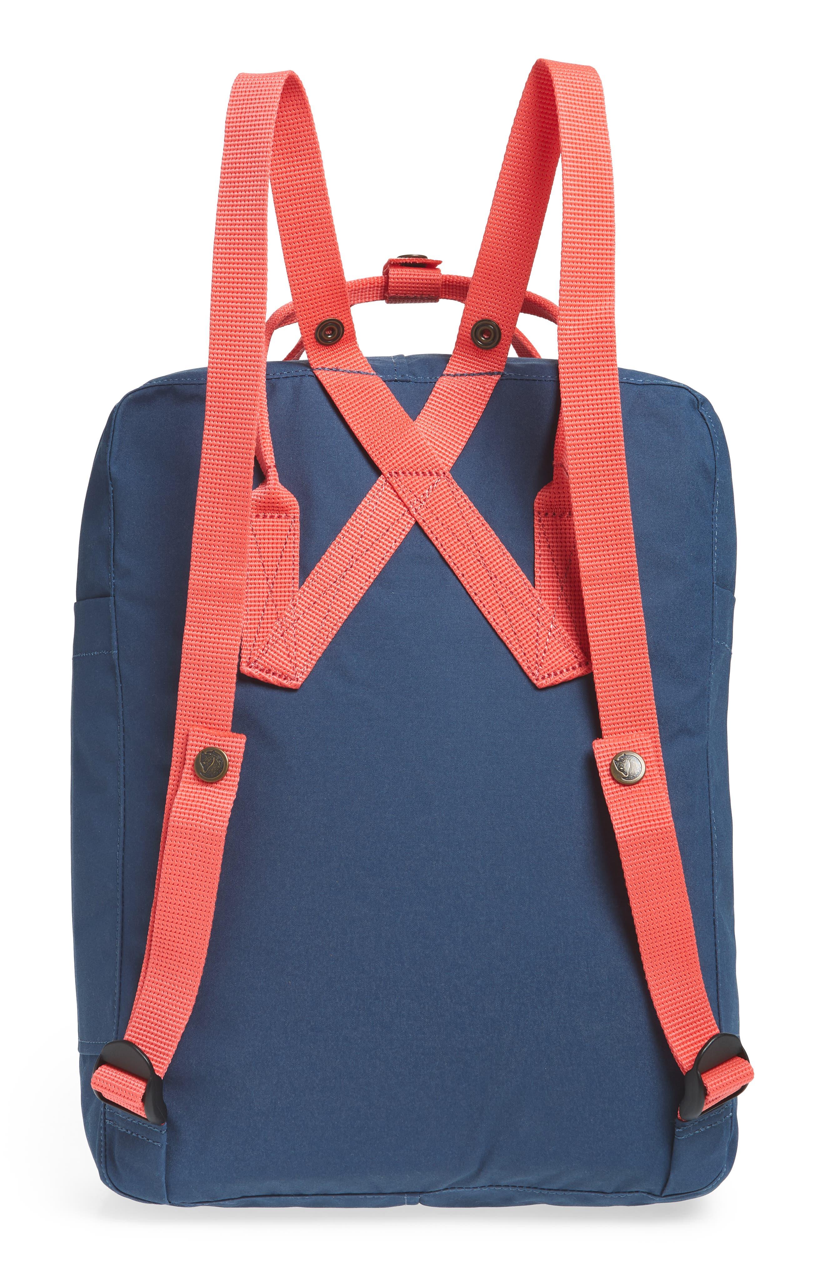 Arctic Fox Kånken Backpack,                             Alternate thumbnail 3, color,                             ROYAL BLUE/ PEACH PINK