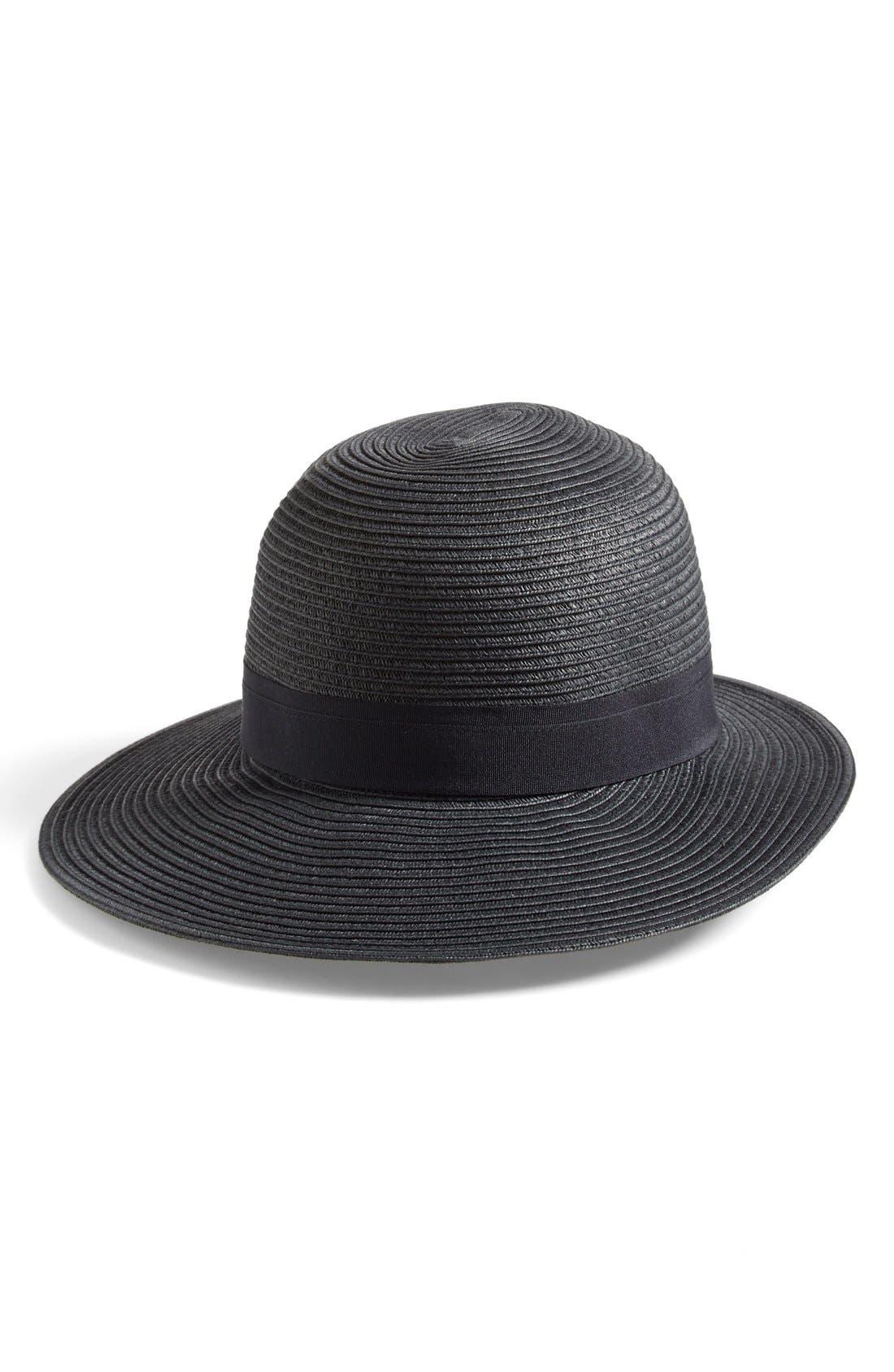Asymmetrical Brim Floppy Hat,                             Main thumbnail 1, color,                             001
