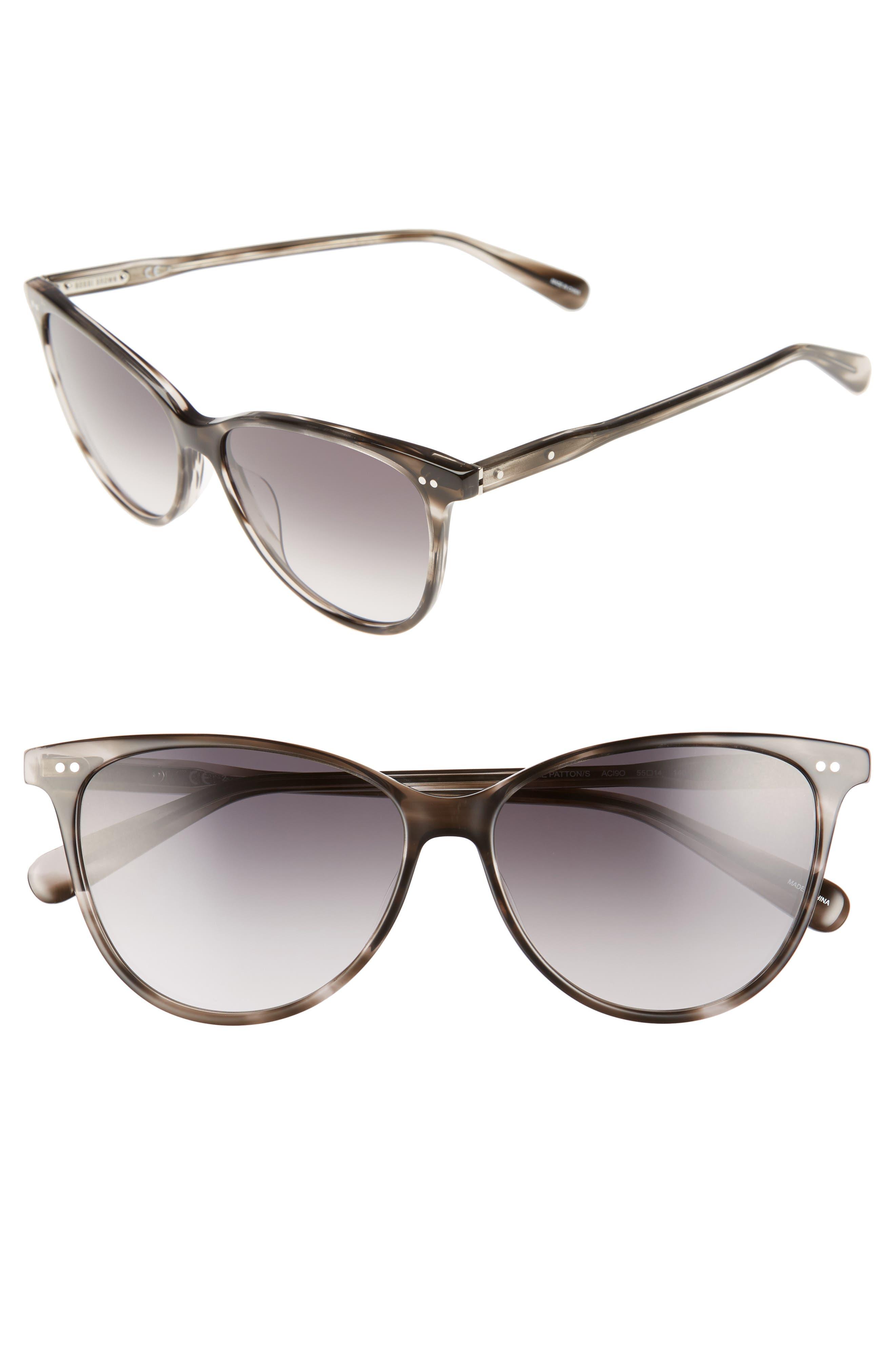The Patton 55mm Gradient Cat Eye Sunglasses,                         Main,                         color, 020