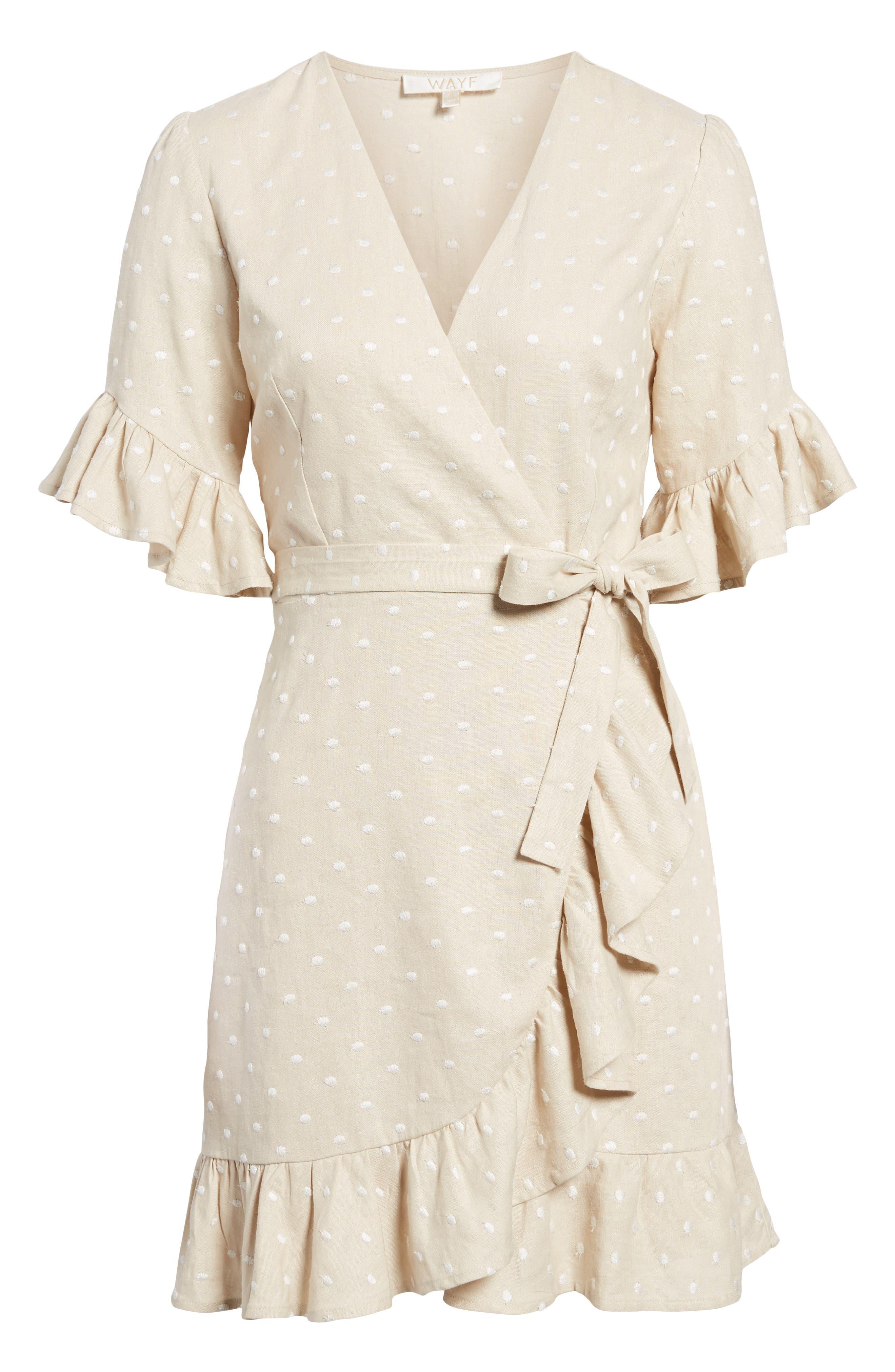Ruffle Wrap Dress,                             Alternate thumbnail 27, color,