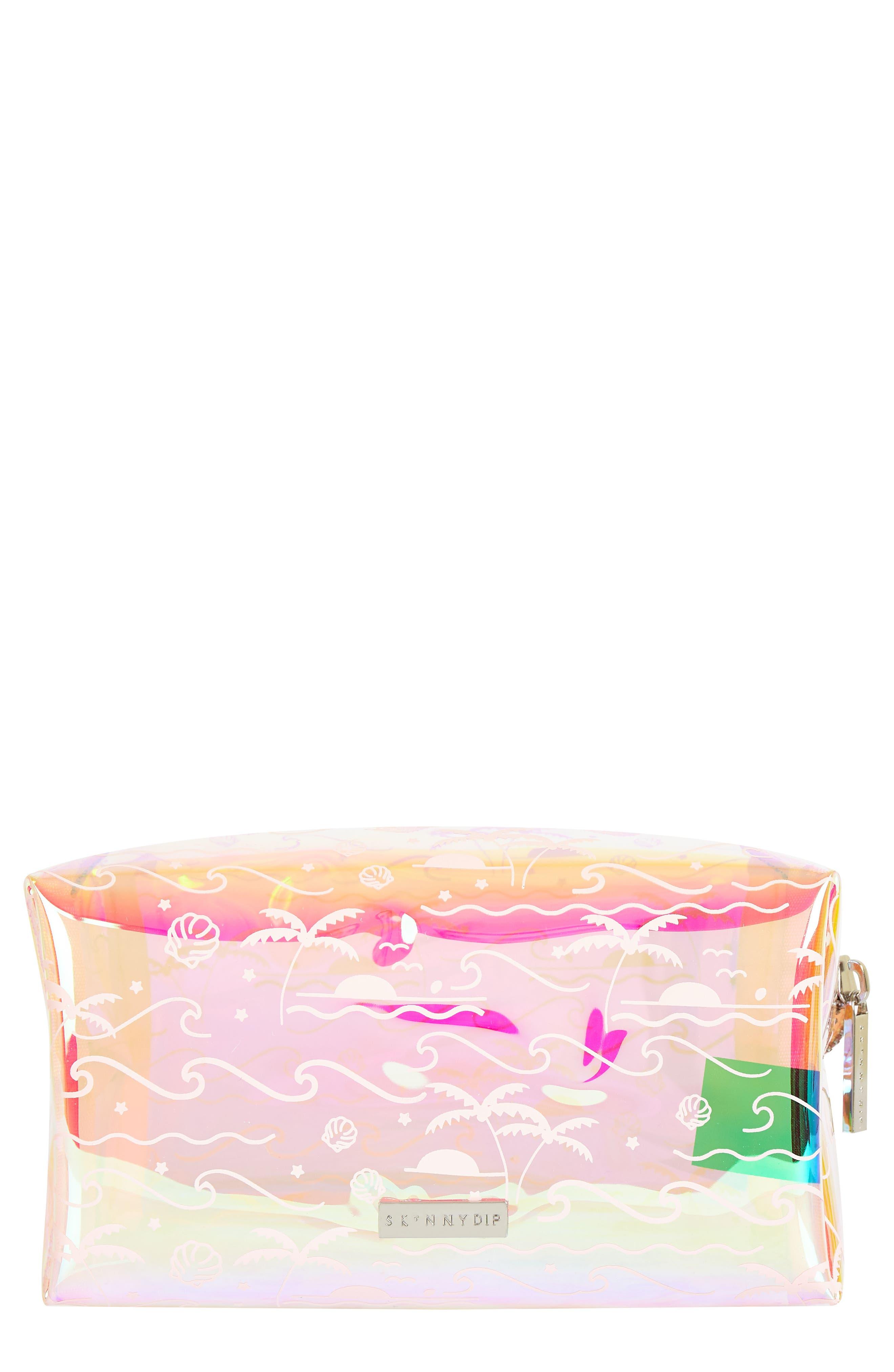 Skinny Dip Ocean Breeze Makeup Bag,                             Main thumbnail 1, color,                             000