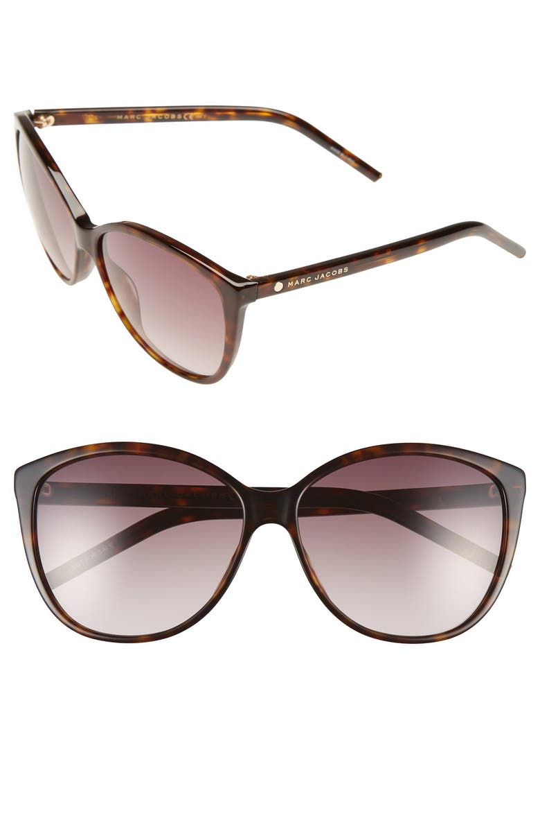 28db7a113b7 MARC JACOBS 58mm Polarized Butterfly Sunglasses