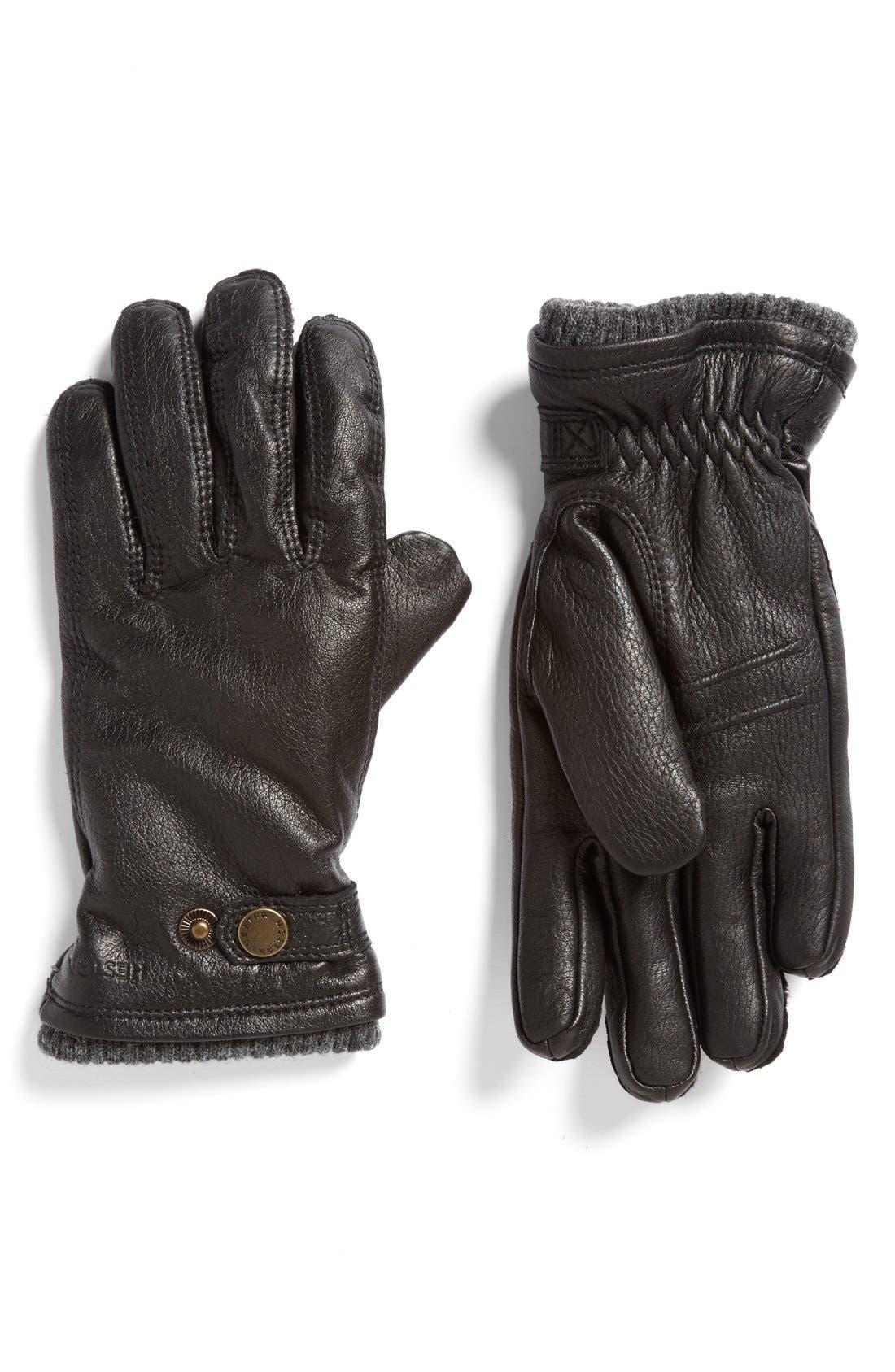 Utsjo Leather Gloves,                             Main thumbnail 1, color,                             001