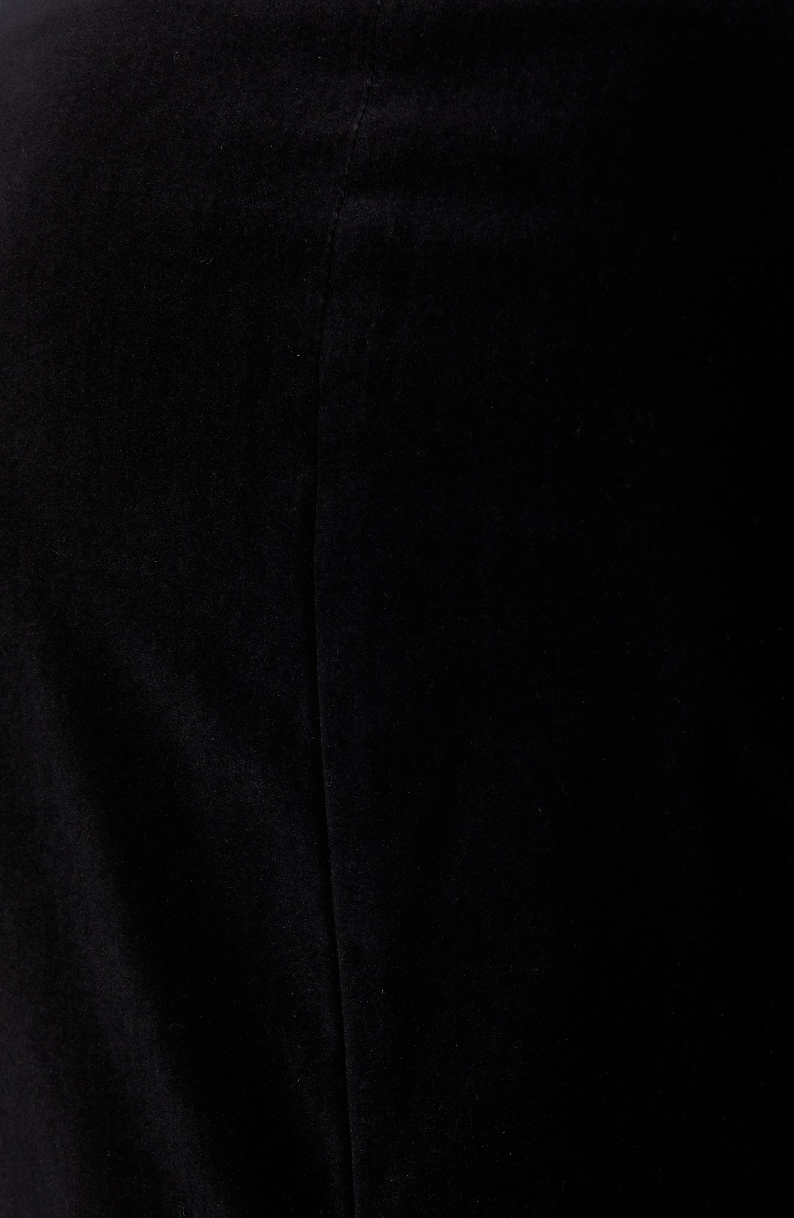 Classic Fit Stretch Cotton Velvet Dinner Jacket,                             Alternate thumbnail 6, color,                             BLACK